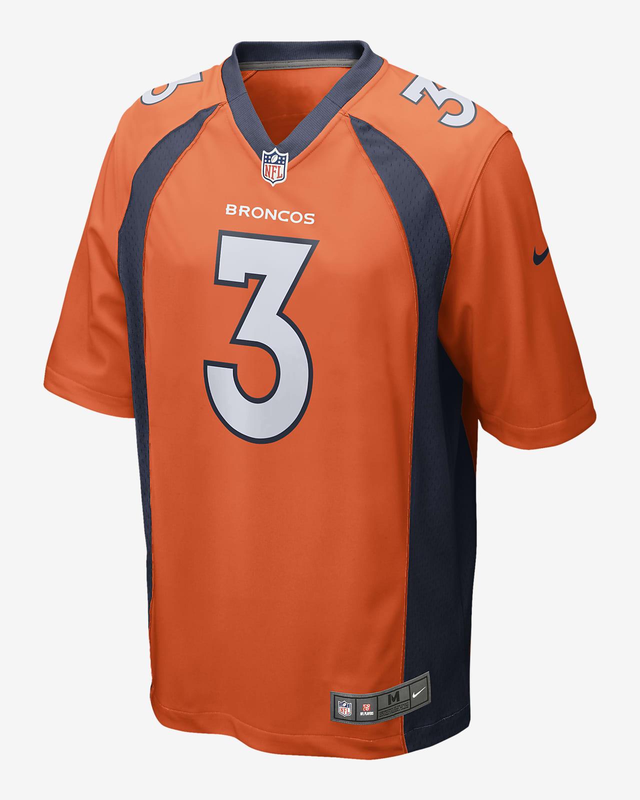 NFL Denver Broncos (Drew Lock) Men's Game Football Jersey