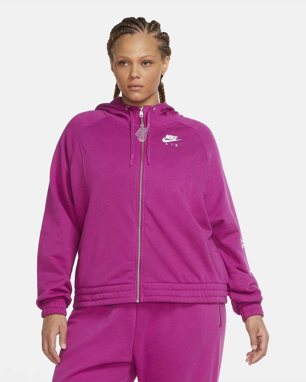 Sweat à capuche et à zip en tissu Fleece Nike Air pour Femme (grande taille)