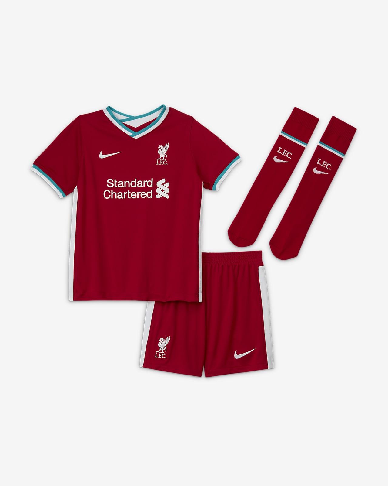 Liverpool Fc 2020 21 Home Little Kids Soccer Kit Nike Com