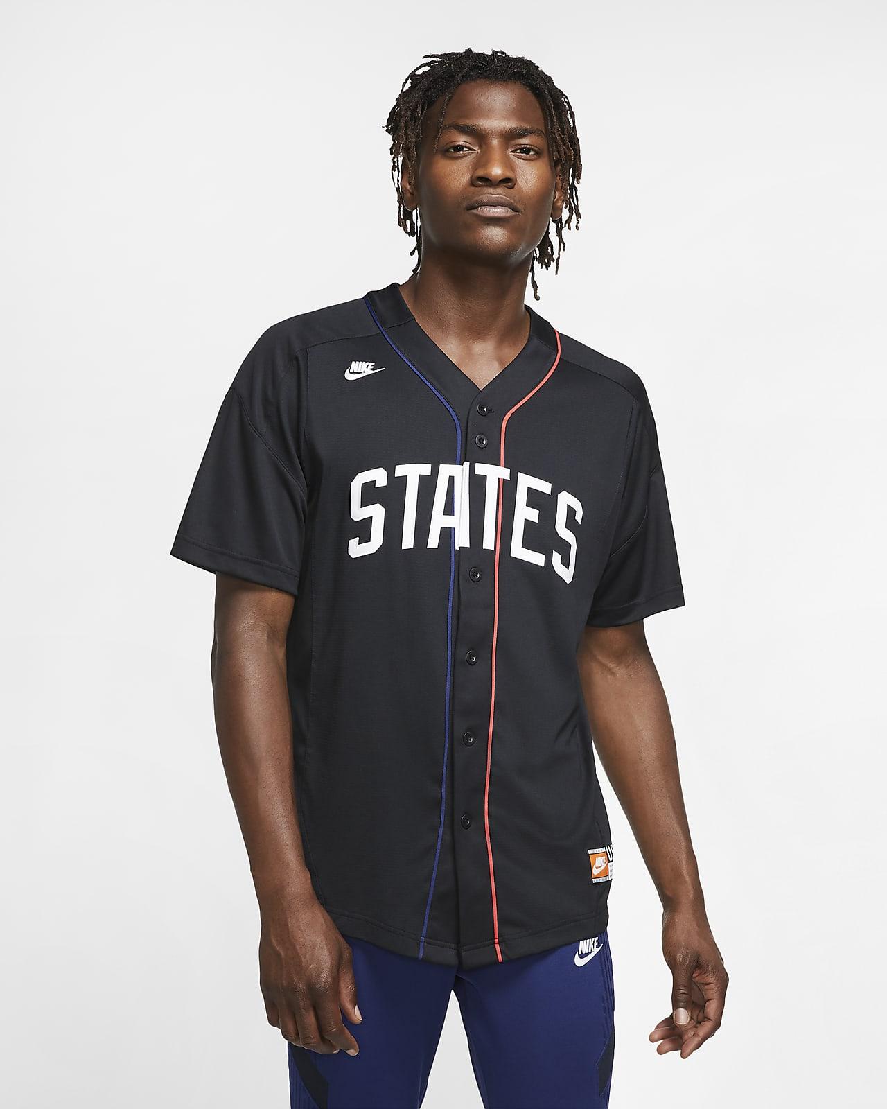 Galaxia Descriptivo fingir  U.S. Men's Baseball Jersey. Nike.com