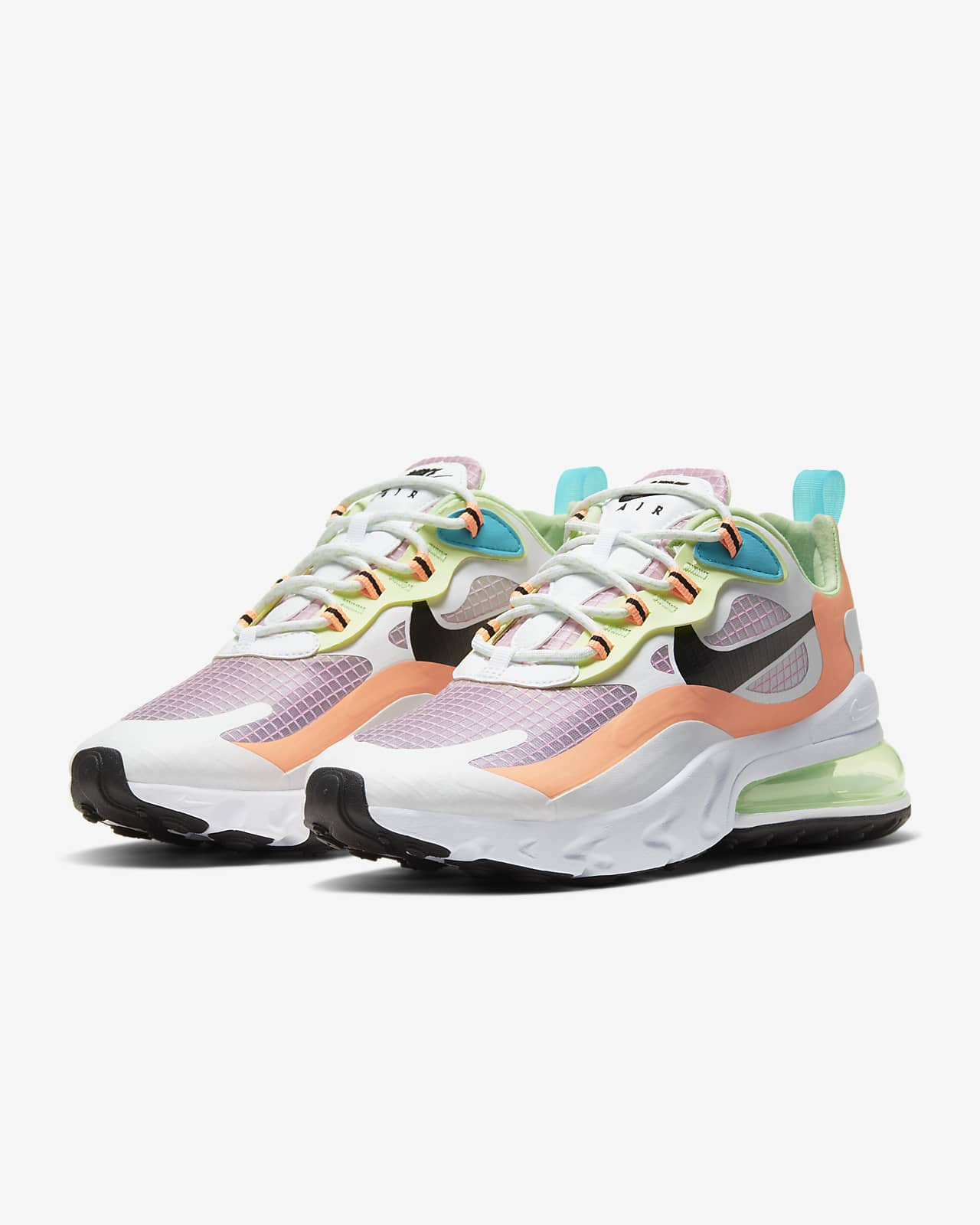 nike air max 270 white orange pink