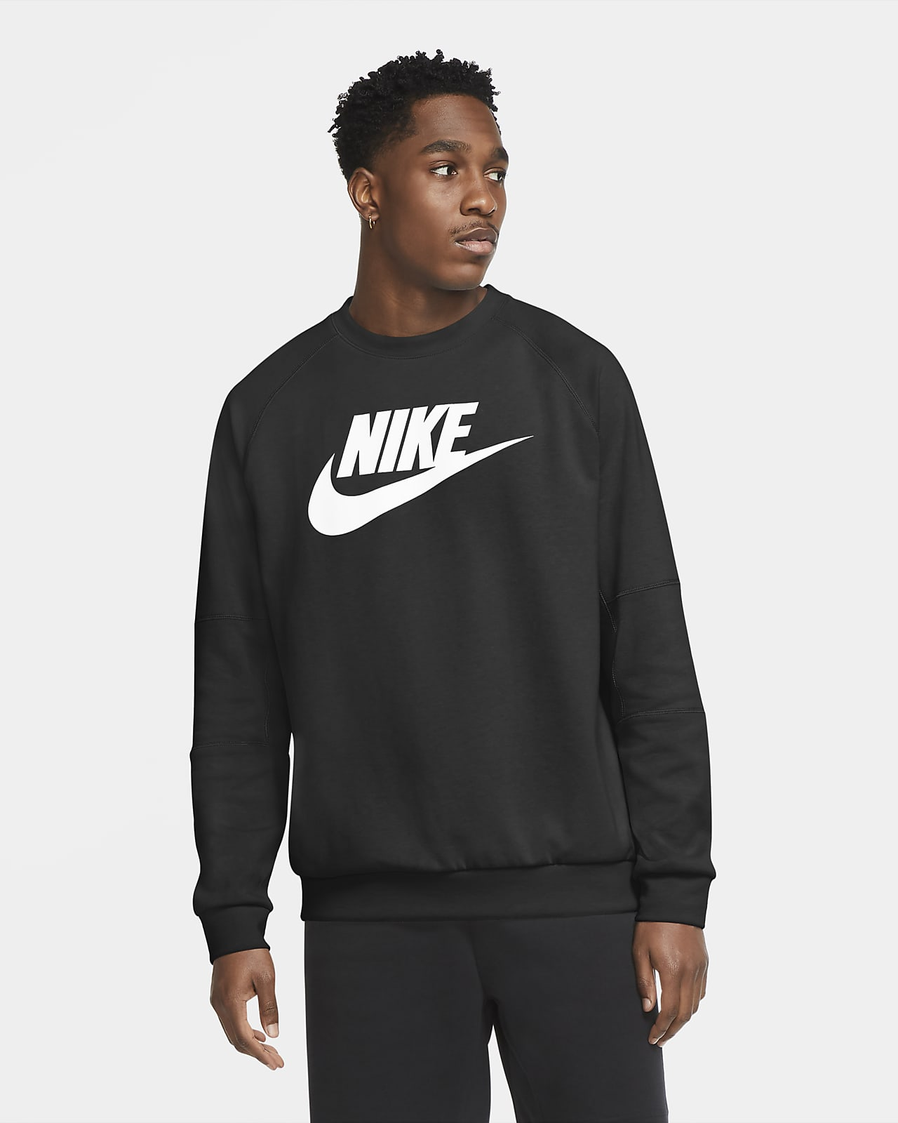 Nike Sportswear Fleeceshirt met ronde hals voor heren