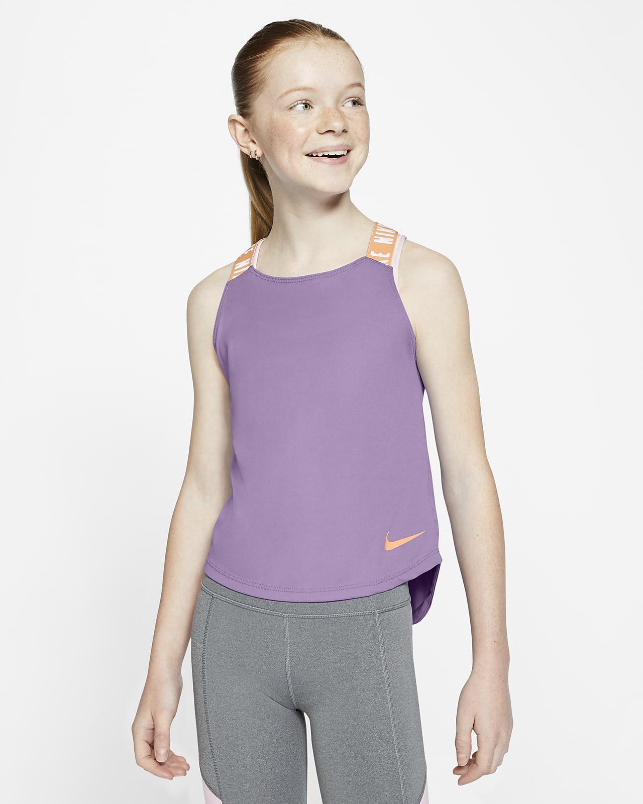 Nike Dri-FIT-træningstanktop til store børn (piger)