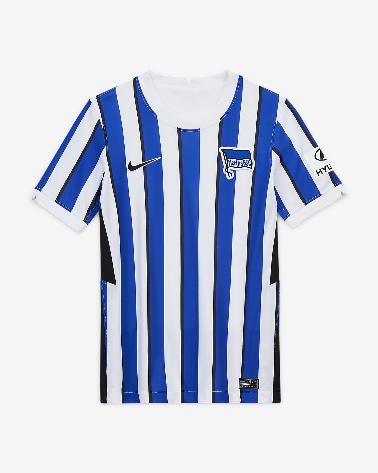 Hertha Bsc 2020 21 Stadium Home Older Kids Football Shirt Nike Si