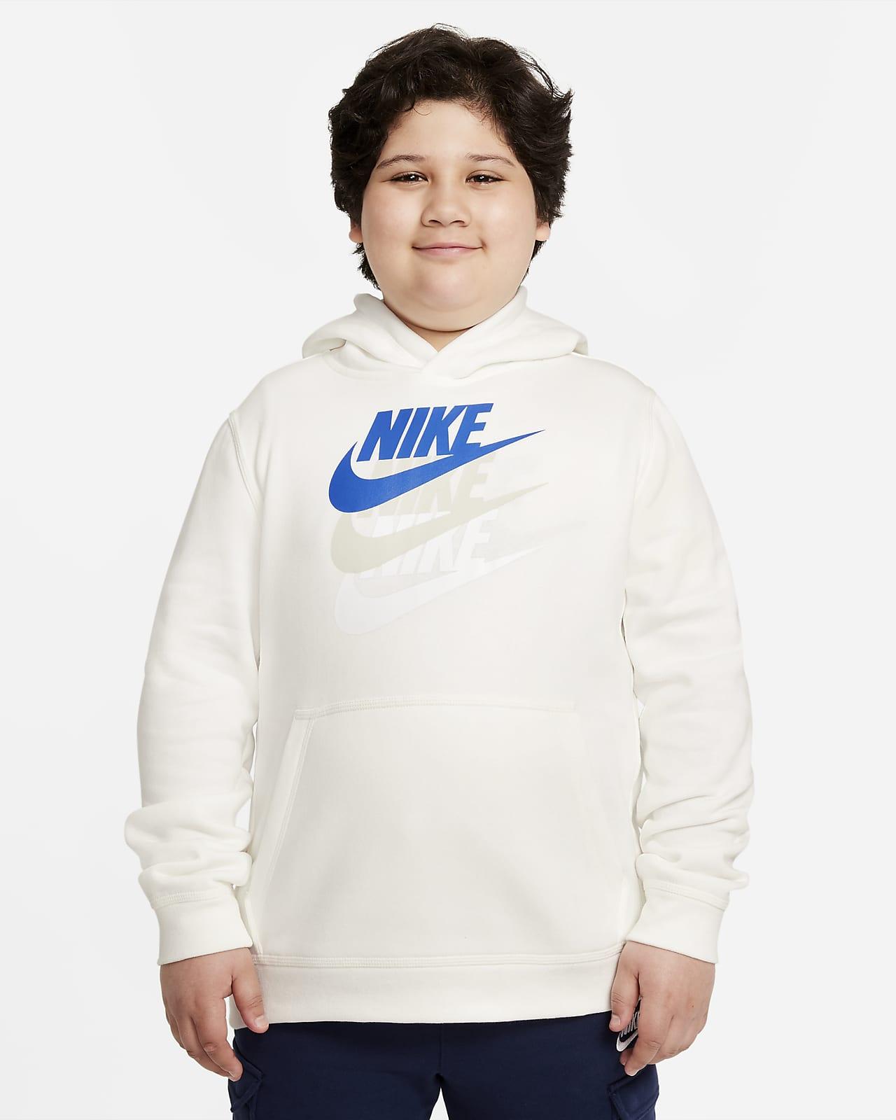 Nike Sportswear Big Kids' (Boys') Pullover Hoodie (Extended Size)