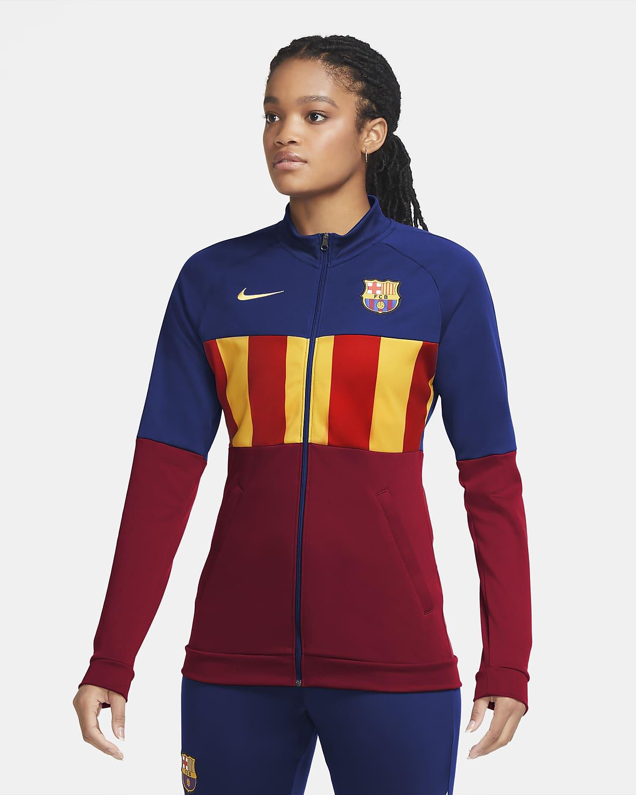 Γυναικείο ποδοσφαιρικό τζάκετ φόρμας Μπαρτσελόνα Anthem