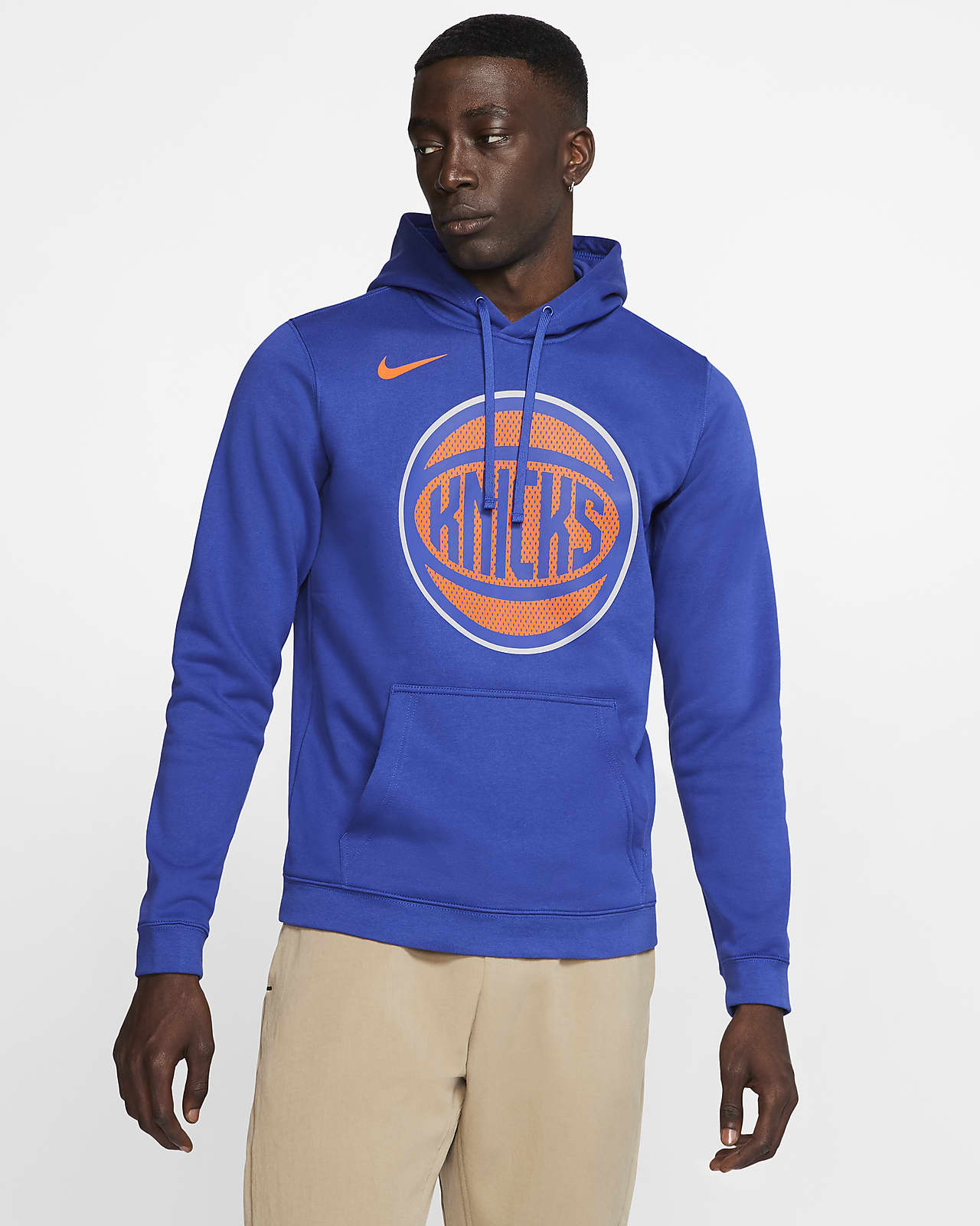 New York Knicks Logo Men's Nike NBA Hoodie