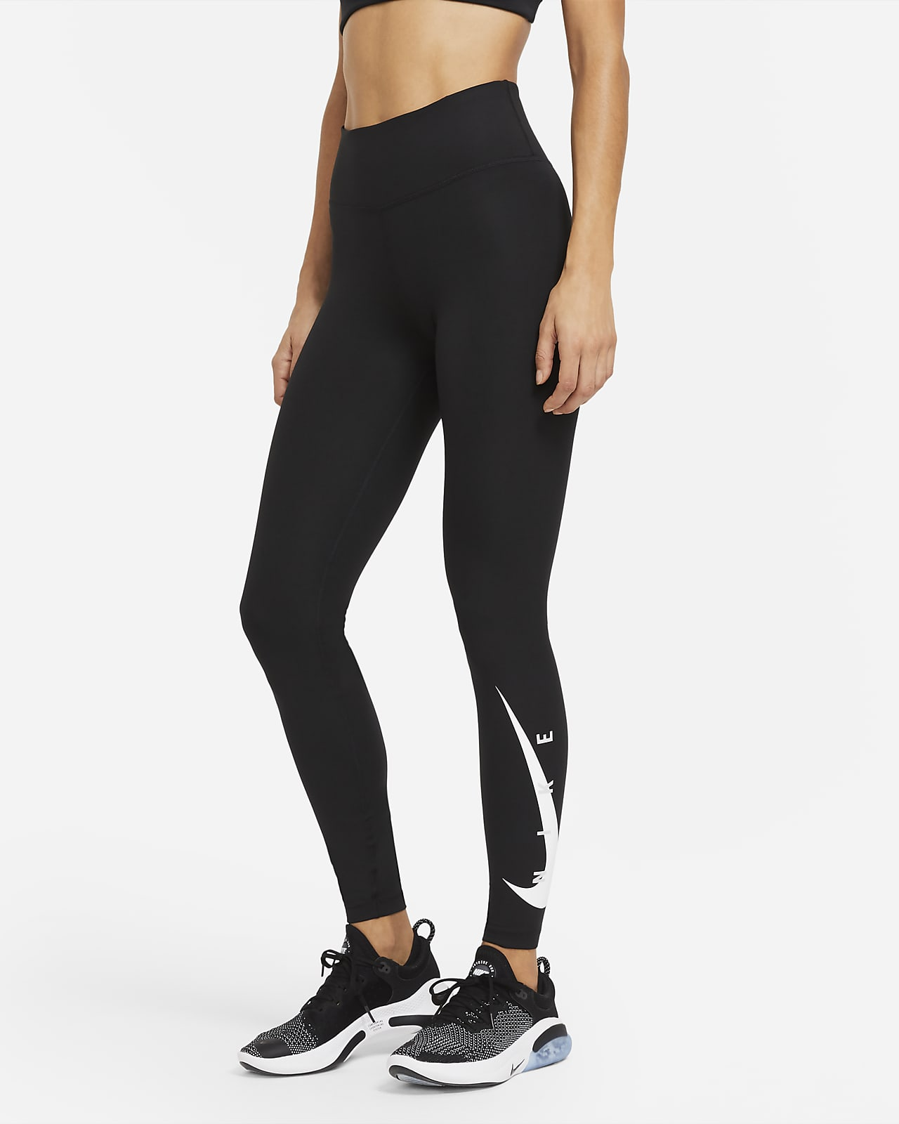 Nike Swoosh Run középmagas derekú, 7/8-os női futóleggings