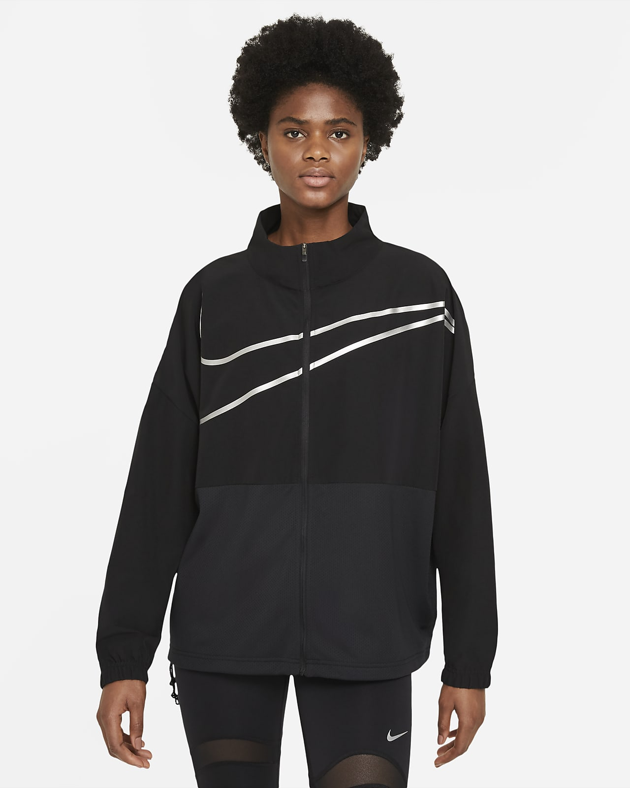 Prenda para la parte superior con cierre completo de tejido Woven para mujer Nike Pro