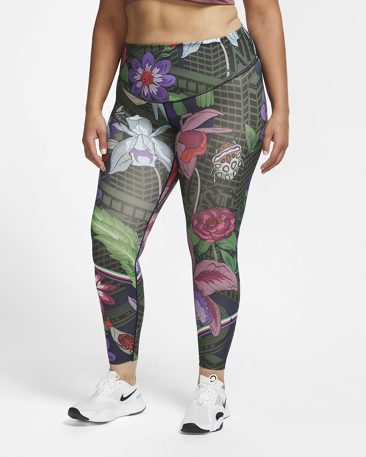 Nike One Icon Clash Women's Printed Tights (Plus Size)
