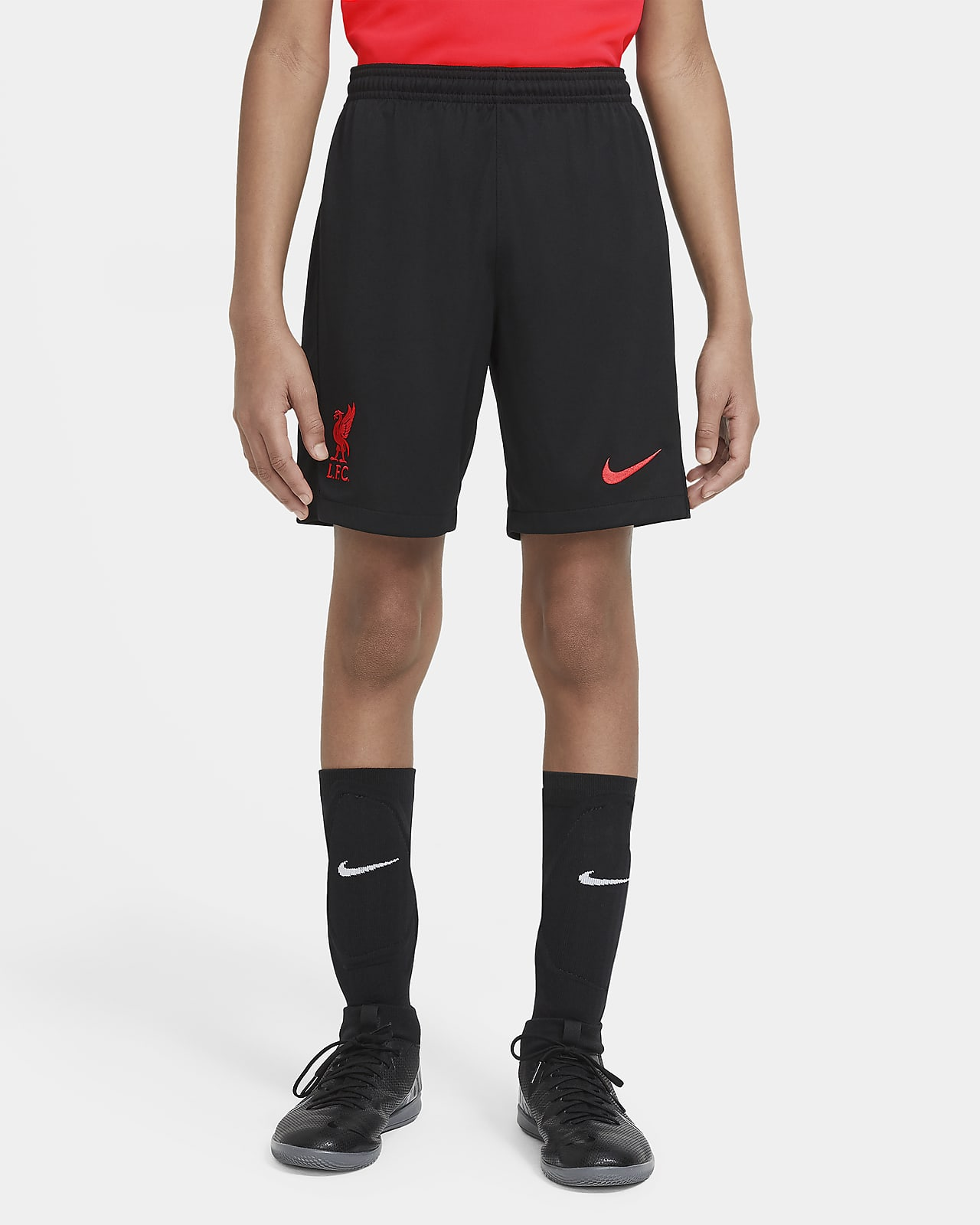 Liverpool F.C. 2020/21 Stadium Third Older Kids' Football Shorts