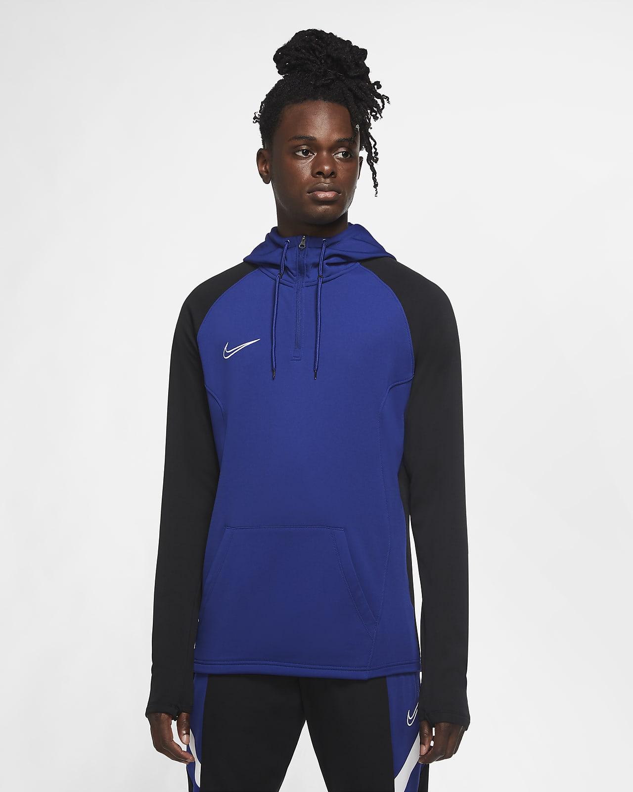 Nike Dri-FIT Academy-fodboldtræningshættetrøje med kvart lynlås til mænd