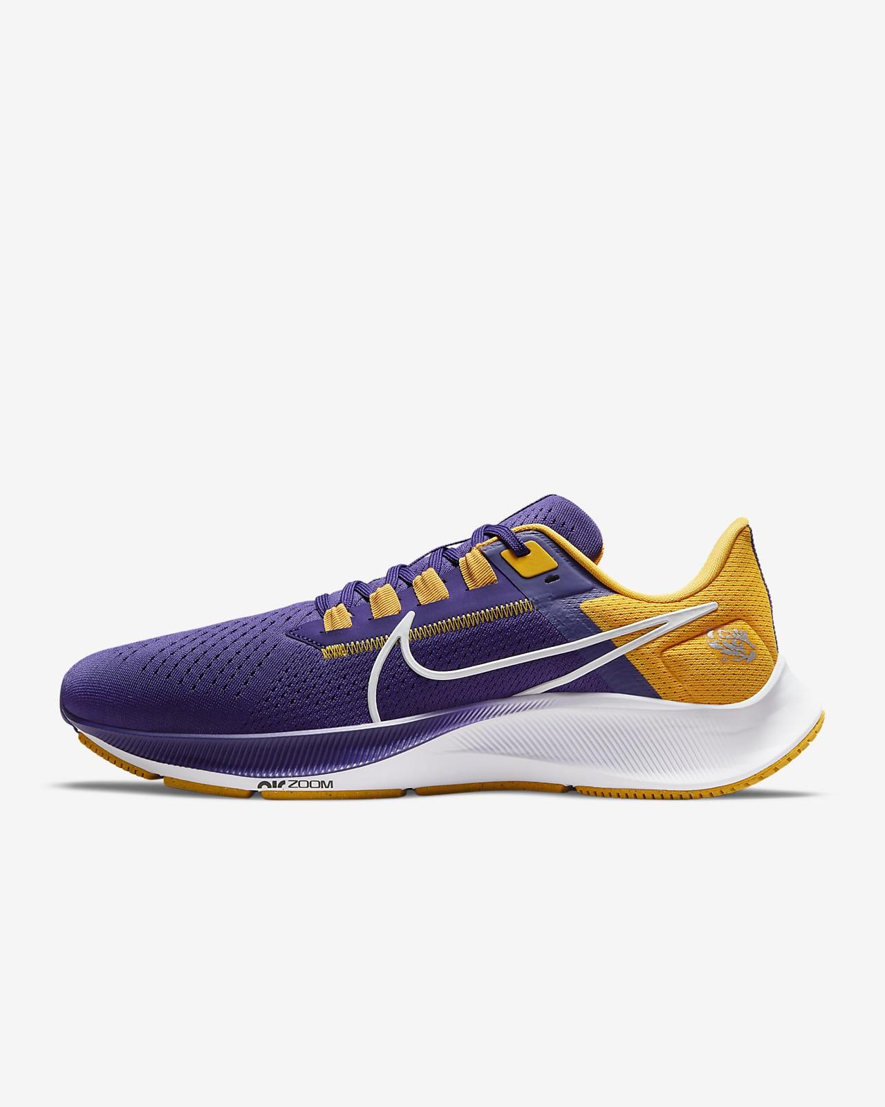 Nike College Air Zoom Pegasus 38 (LSU) Running Shoe