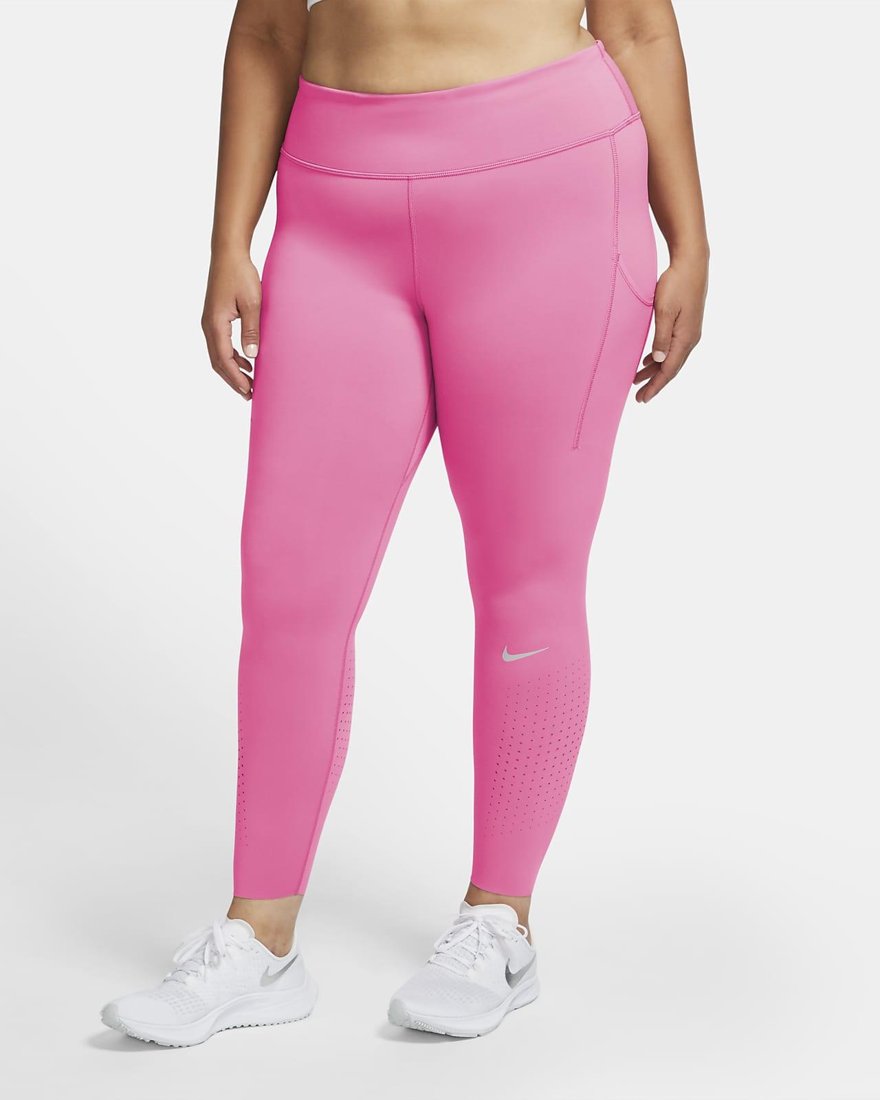 Nike Epic Luxe Leggings de running de talle medio con bolsillos (Talla grande) - Mujer