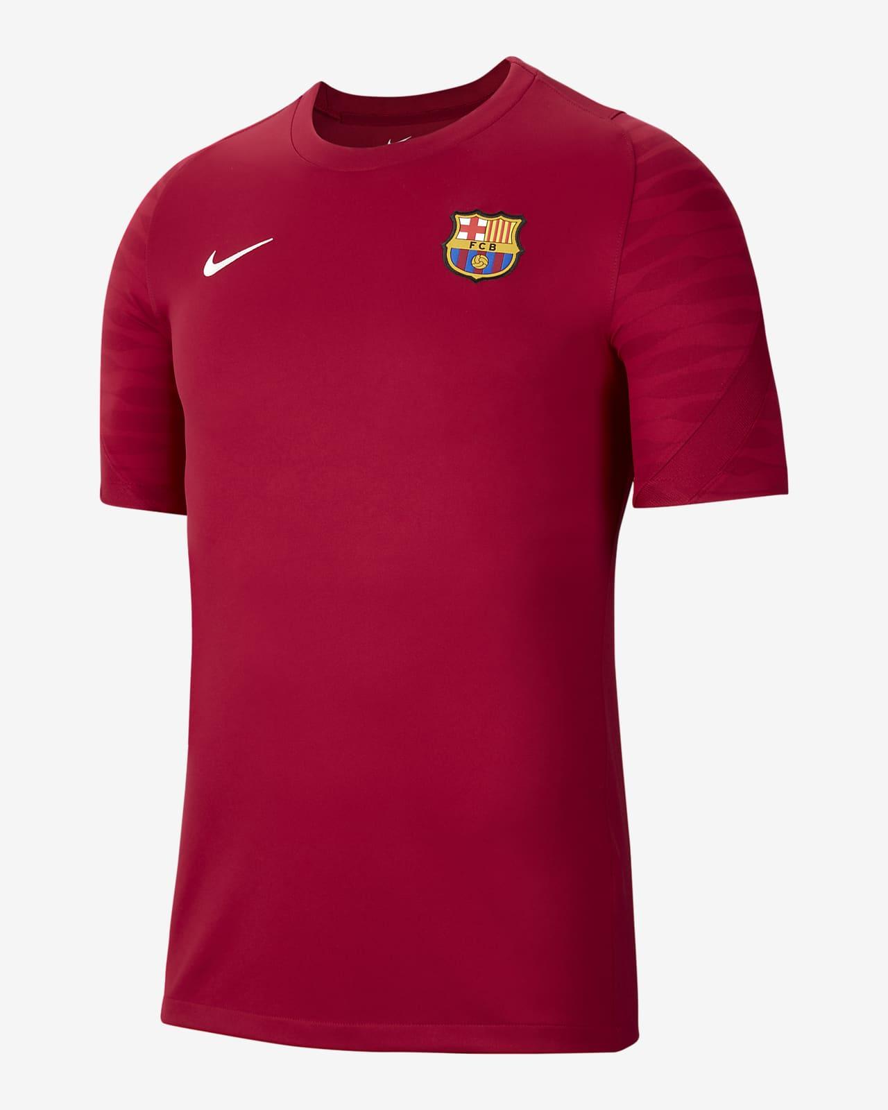 FC Barcelona Strike Kısa Kollu Erkek Futbol Forması