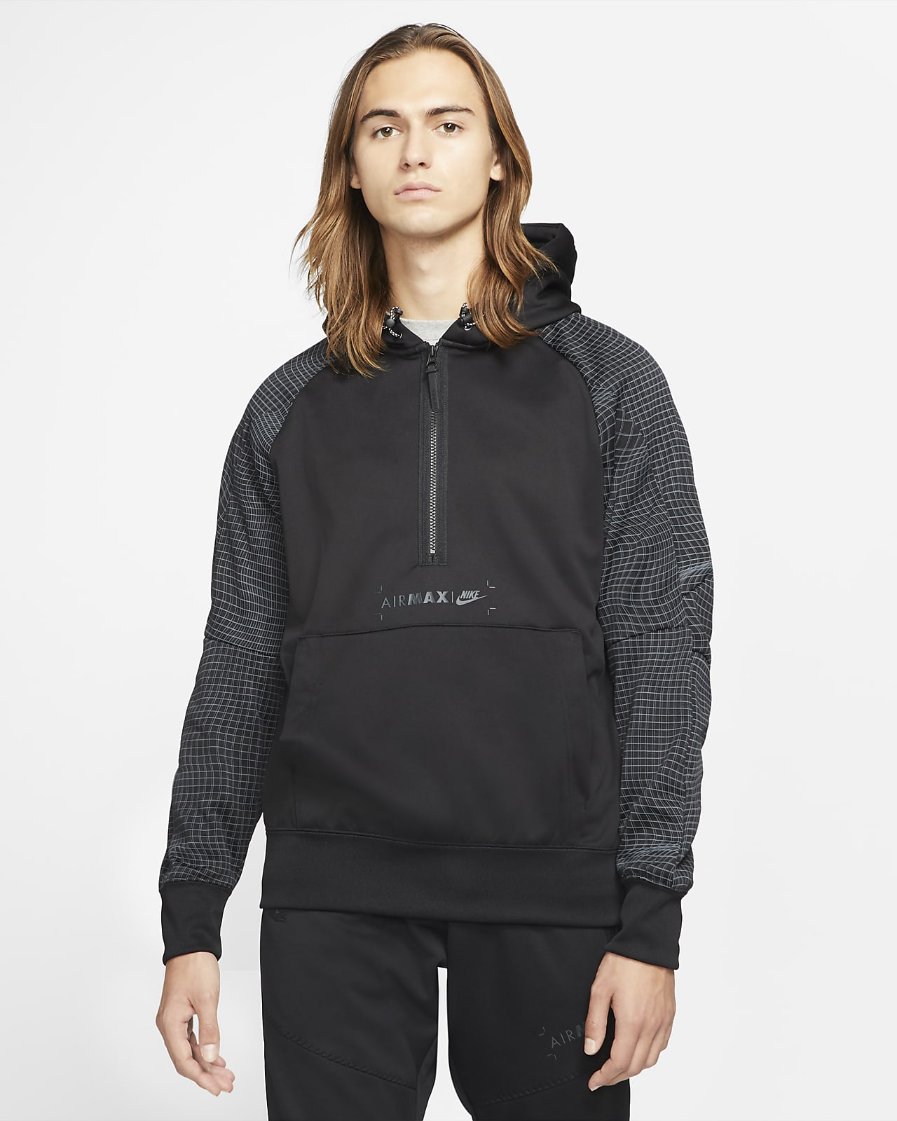 Sweat à capuche à demi-zip en tissu Fleece Nike Sportswear Air Max pour Homme