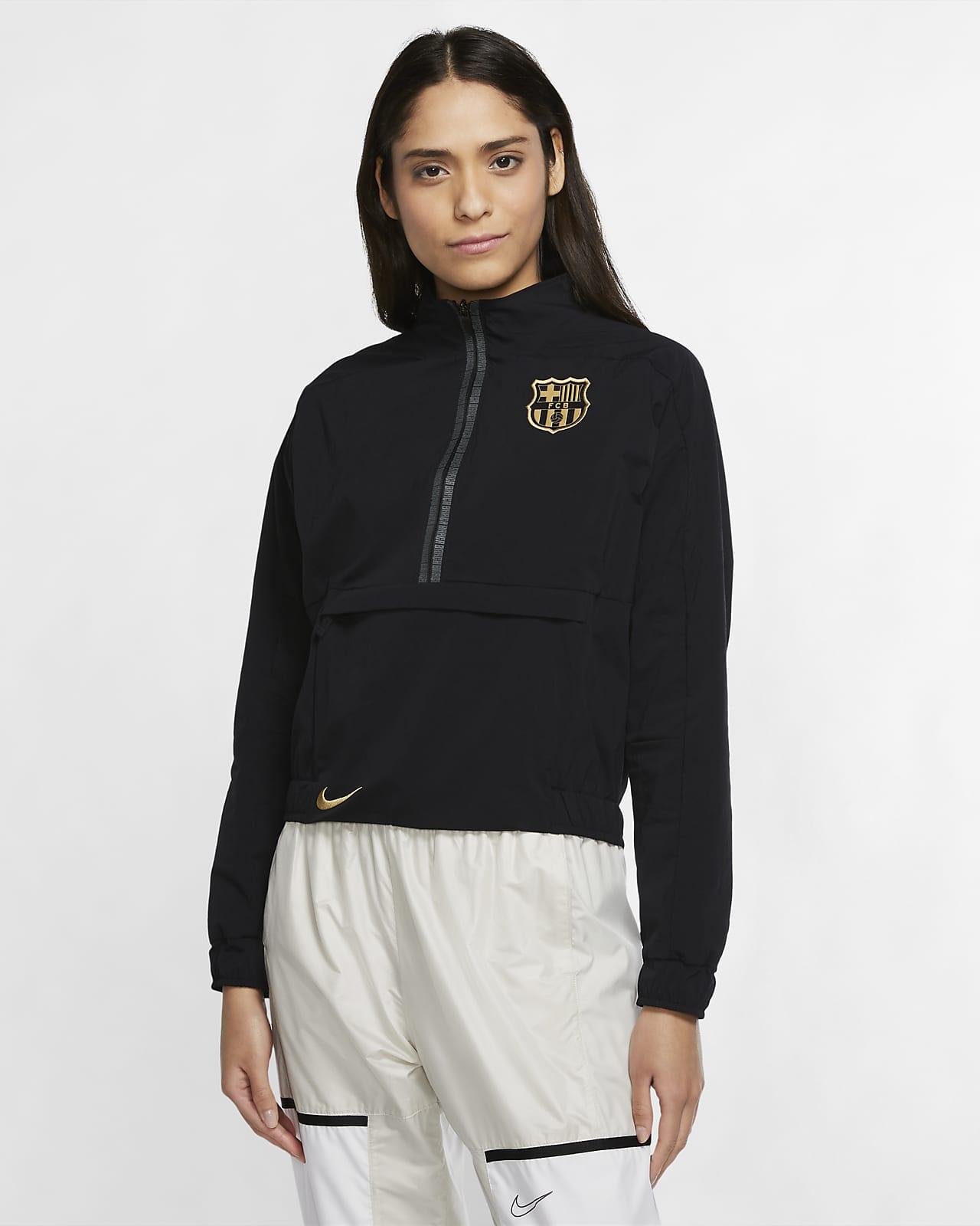 FC Barcelona Çeyrek Fermuarlı Kadın Futbol Ceketi