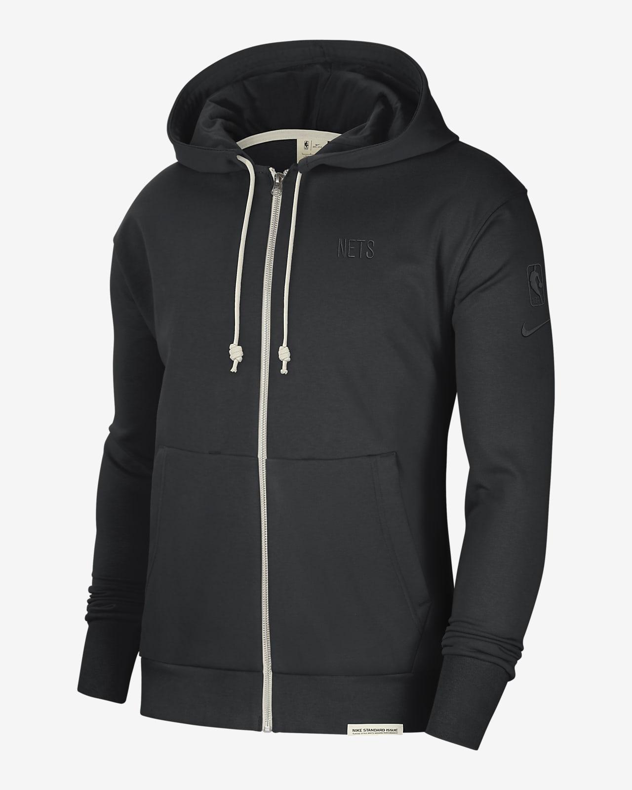 Nets Standard Issue Nike Dri-FIT NBA-hoodie voor heren