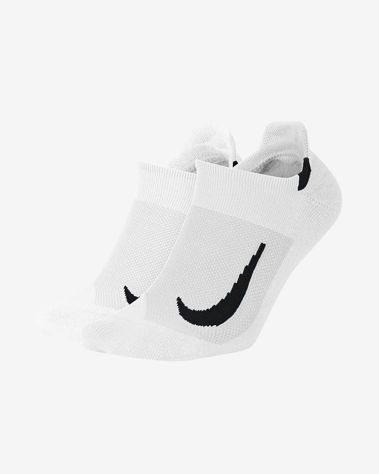 Χαμηλές κάλτσες για τρέξιμο Nike Multiplier (δύο ζευγάρια)