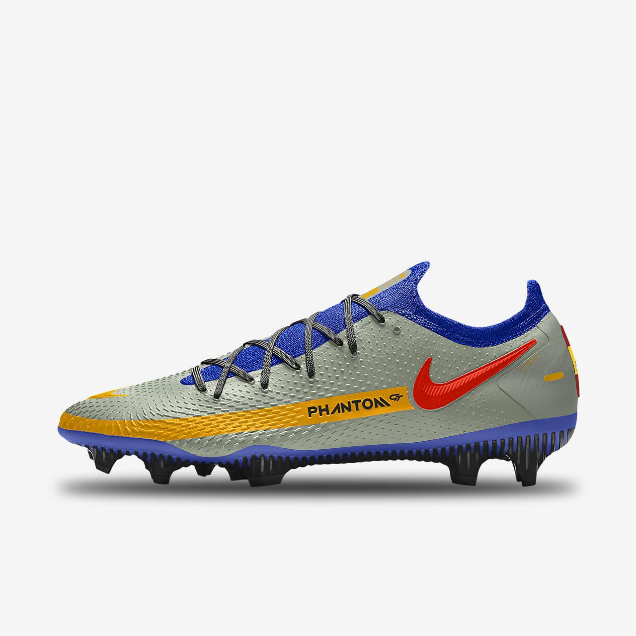 Personalizowane korki piłkarskie na twardą murawę Nike Phantom GT Elite By You