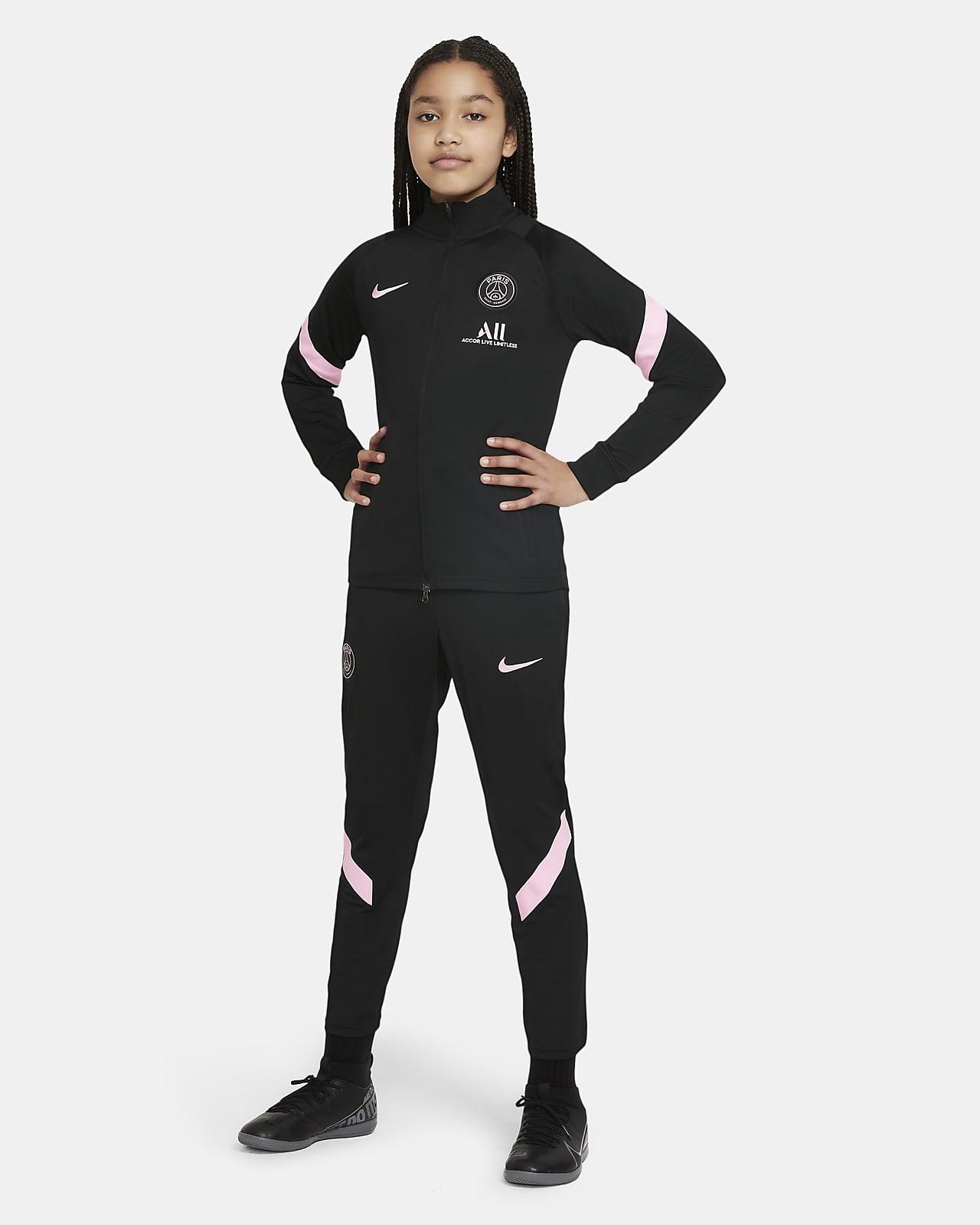 Fato de treino de futebol Nike Dri-FIT do equipamento alternativo Strike Paris Saint-Germain Júnior