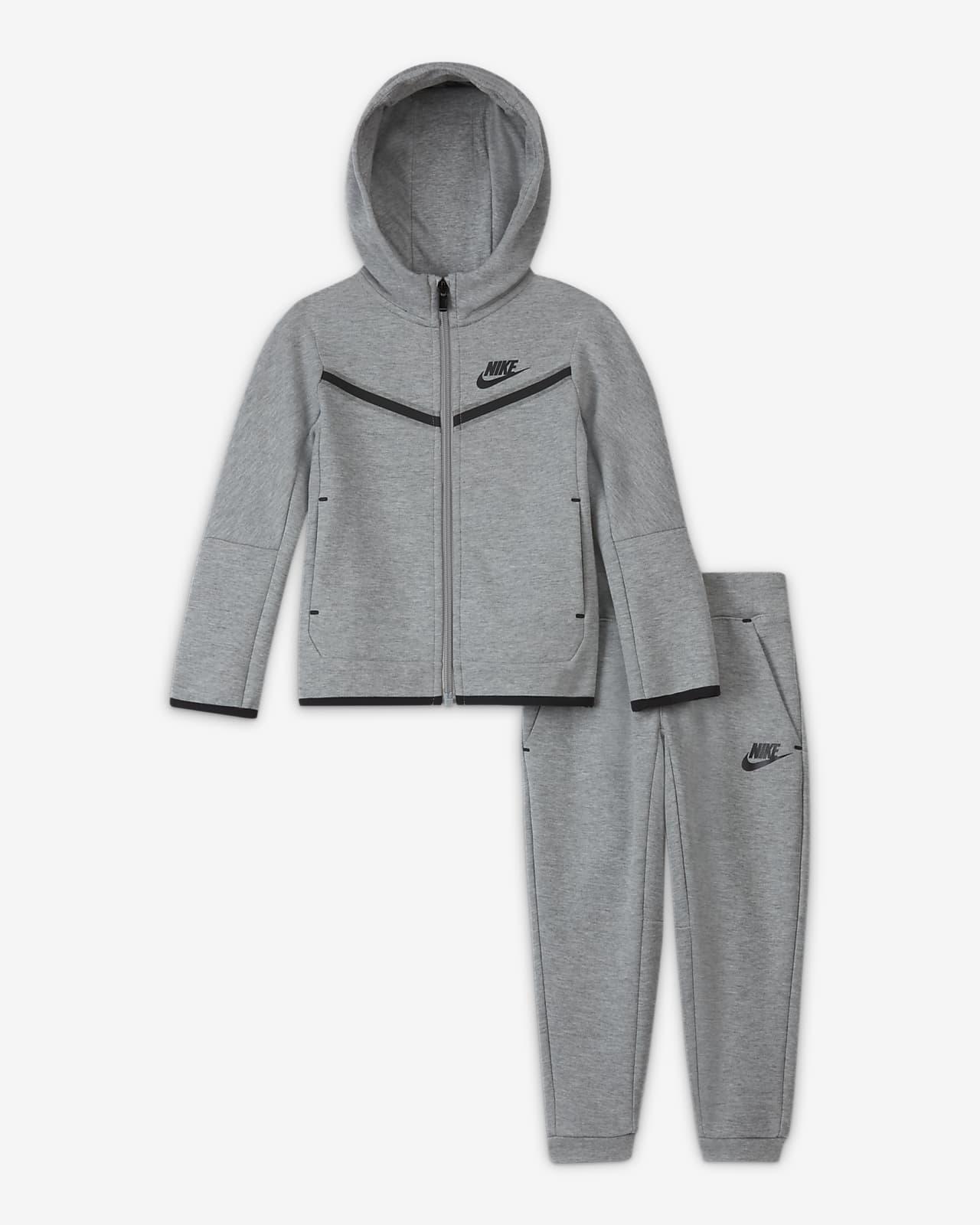 Conjunto de hoodie com fecho e calças Nike Sportswear Tech Fleece para bebé