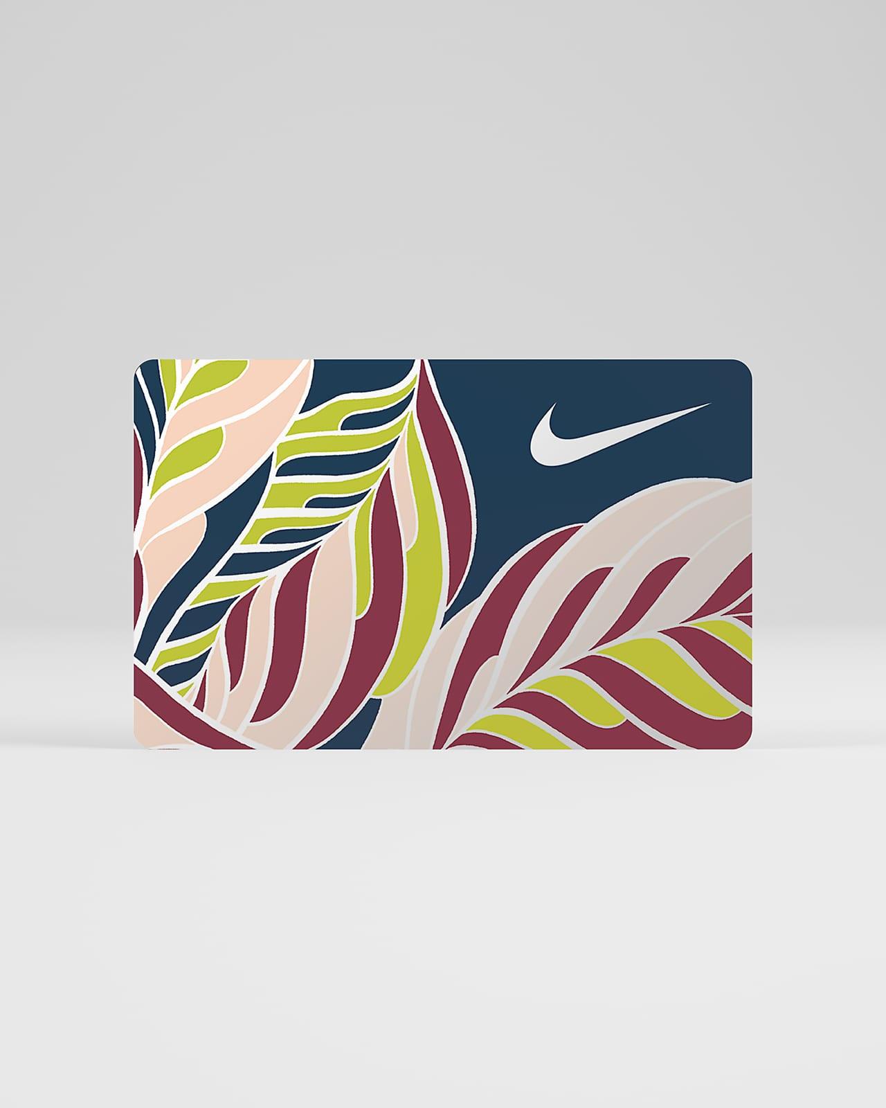 La tarjeta de regalo digital Nike se envía por correo electrónico en 2 horas o menos