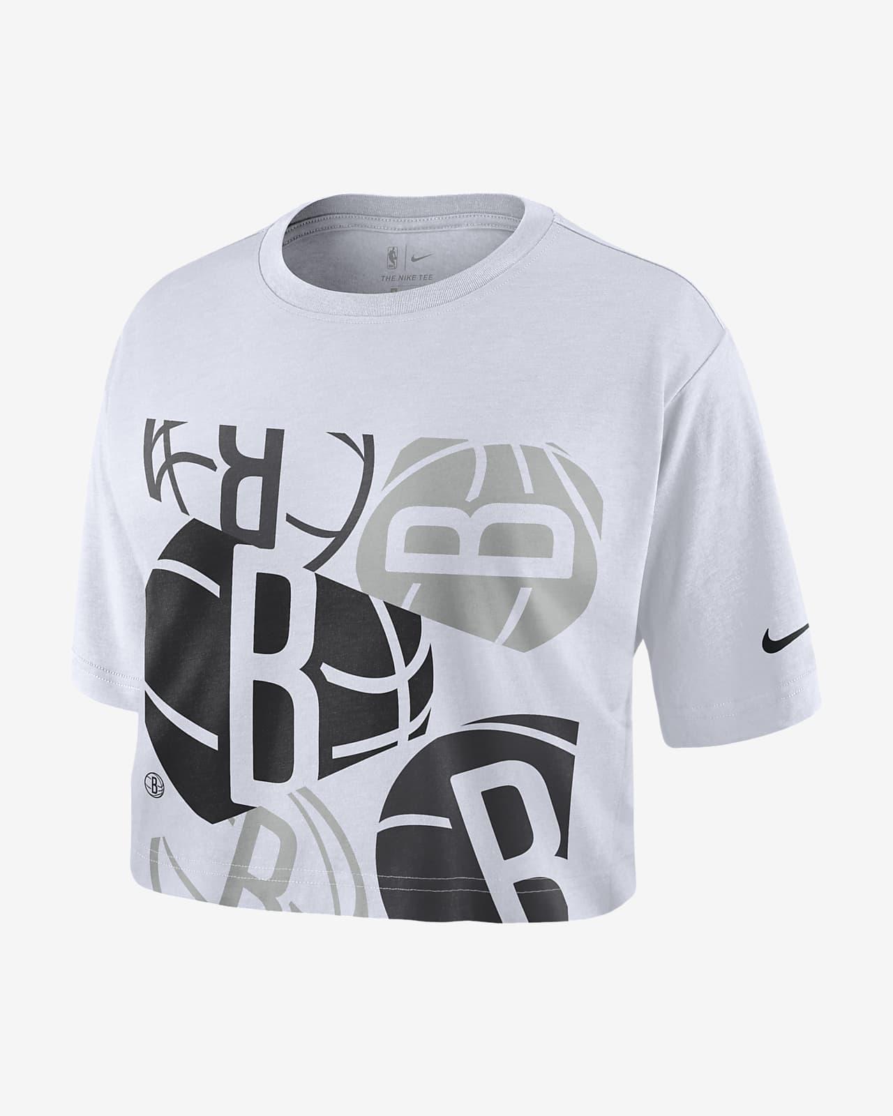 布鲁克林篮网队 Logo Nike NBA 女子短款T恤