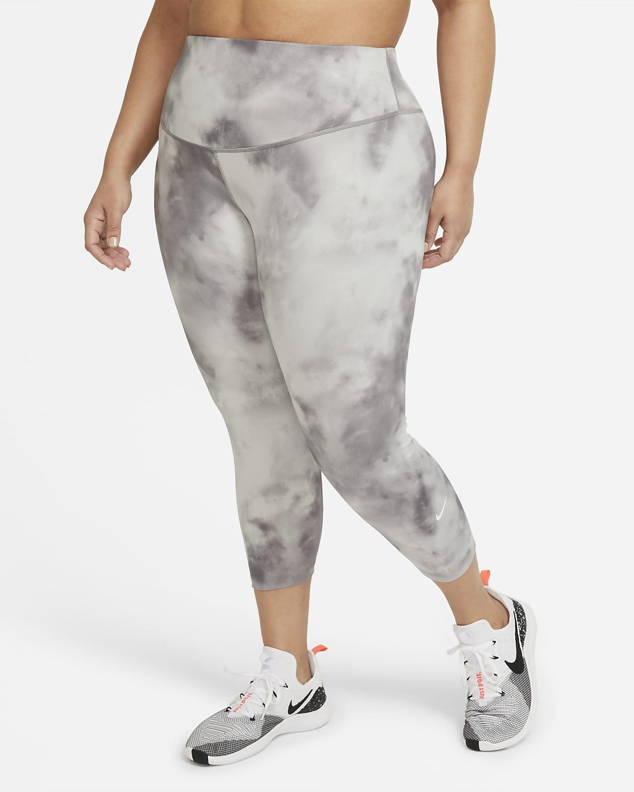 Nike One Icon Clash Crop-Leggings mit mittelhohem Bund für Damen (große Größe)