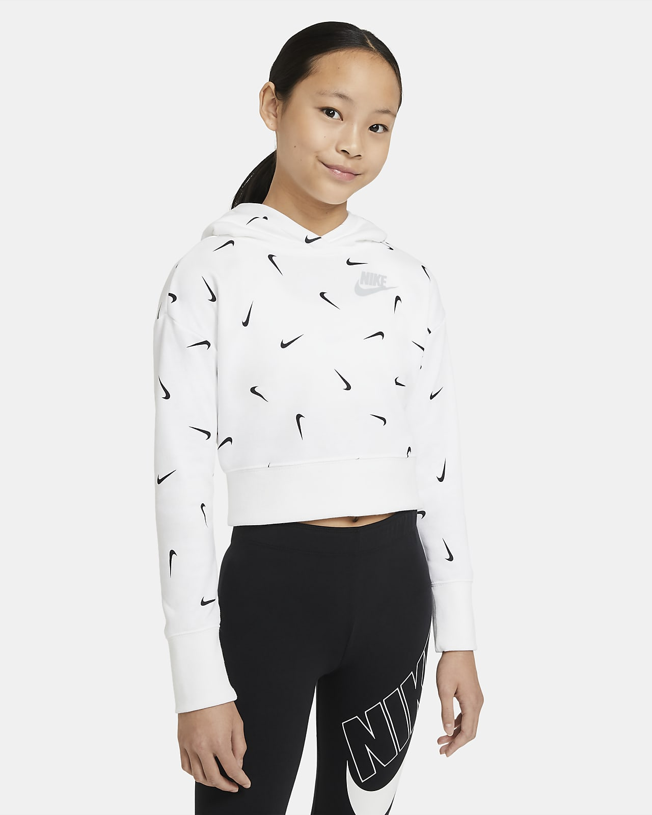 Nike Sportswear Big Kids' (Girls') Cropped Pullover French Terry Hoodie