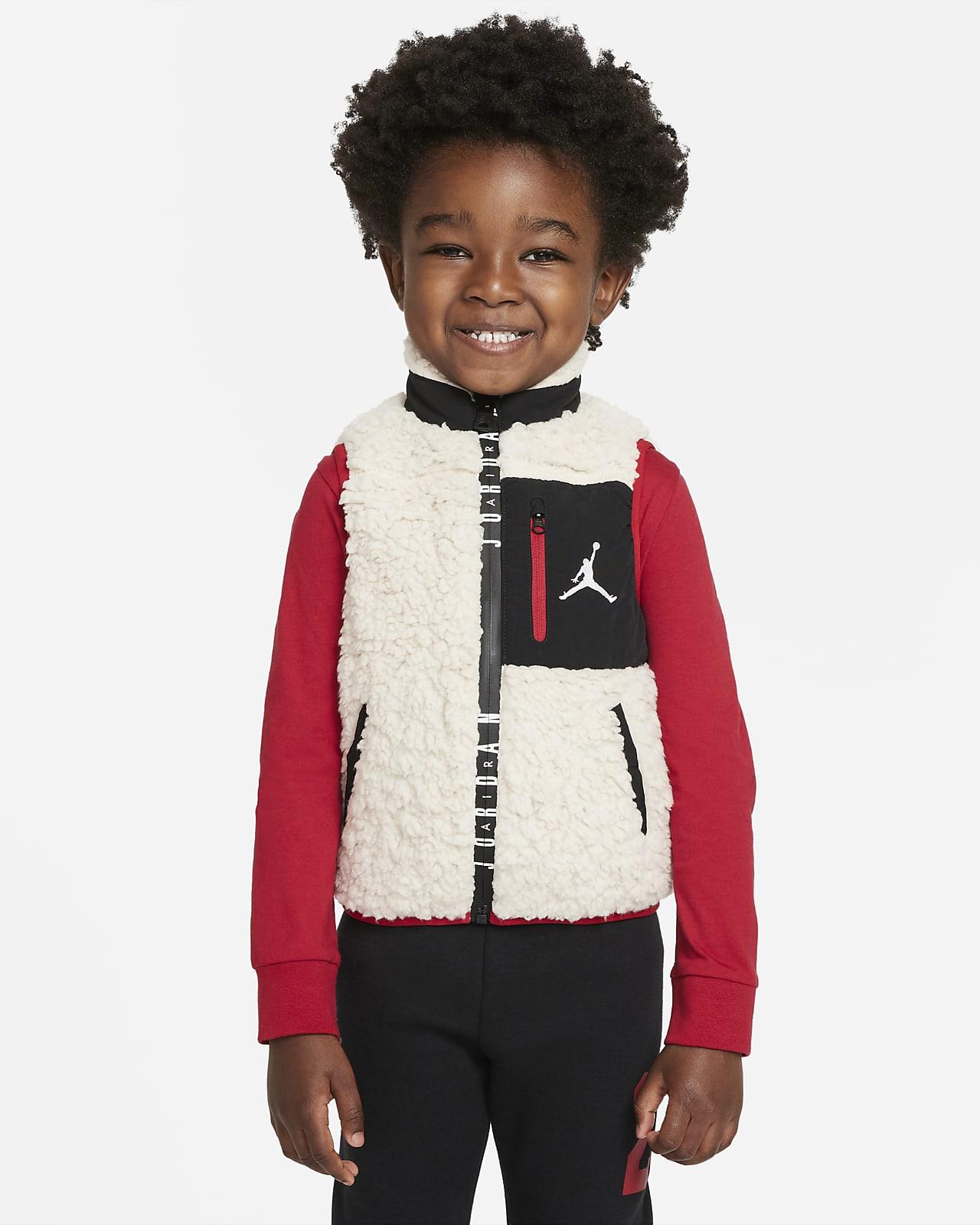 Jordan 婴童全长拉链开襟马甲