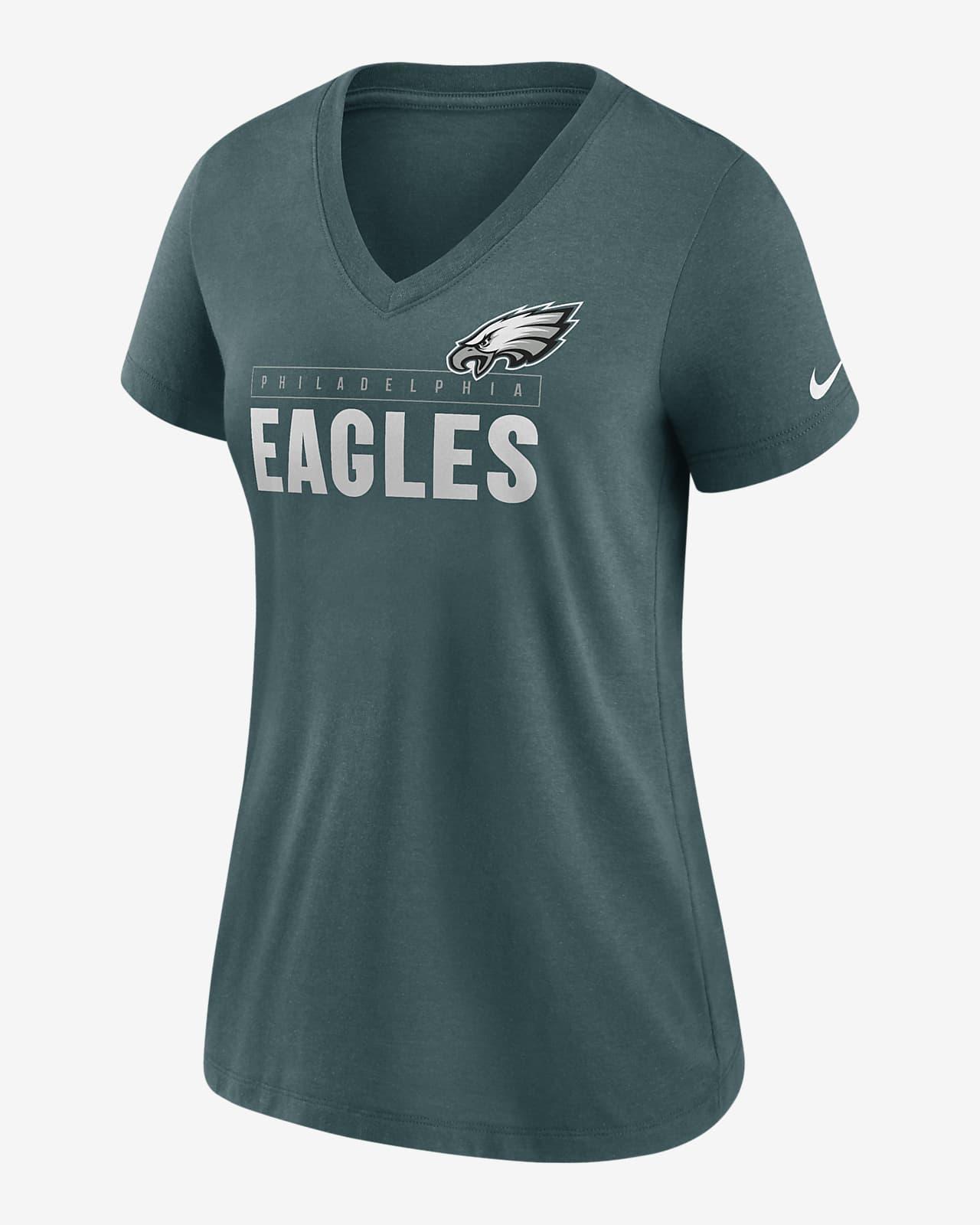 Nike Logo (NFL Philadelphia Eagles) Women's Mid V-Neck T-Shirt