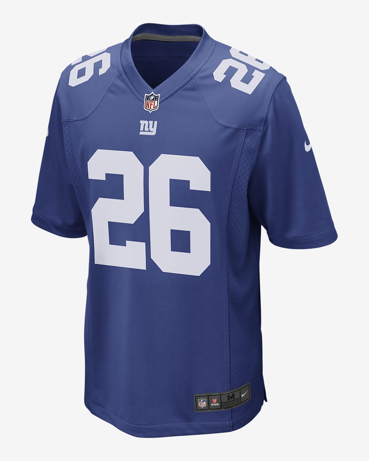 Camiseta de fútbol americano Game para hombre NFL New York Giants (Saquon Barkley)