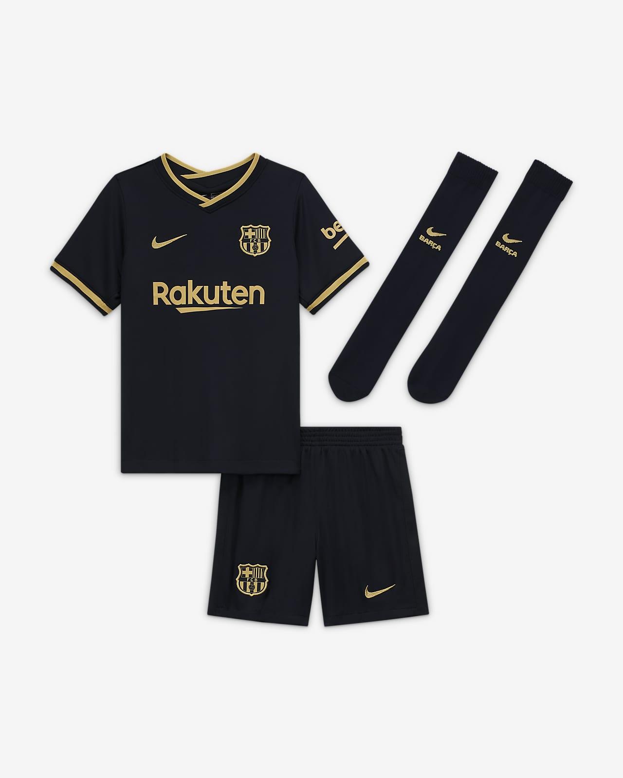 FC Barcelona 2020/21 (bortedrakt) fotballdraktsett til små barn