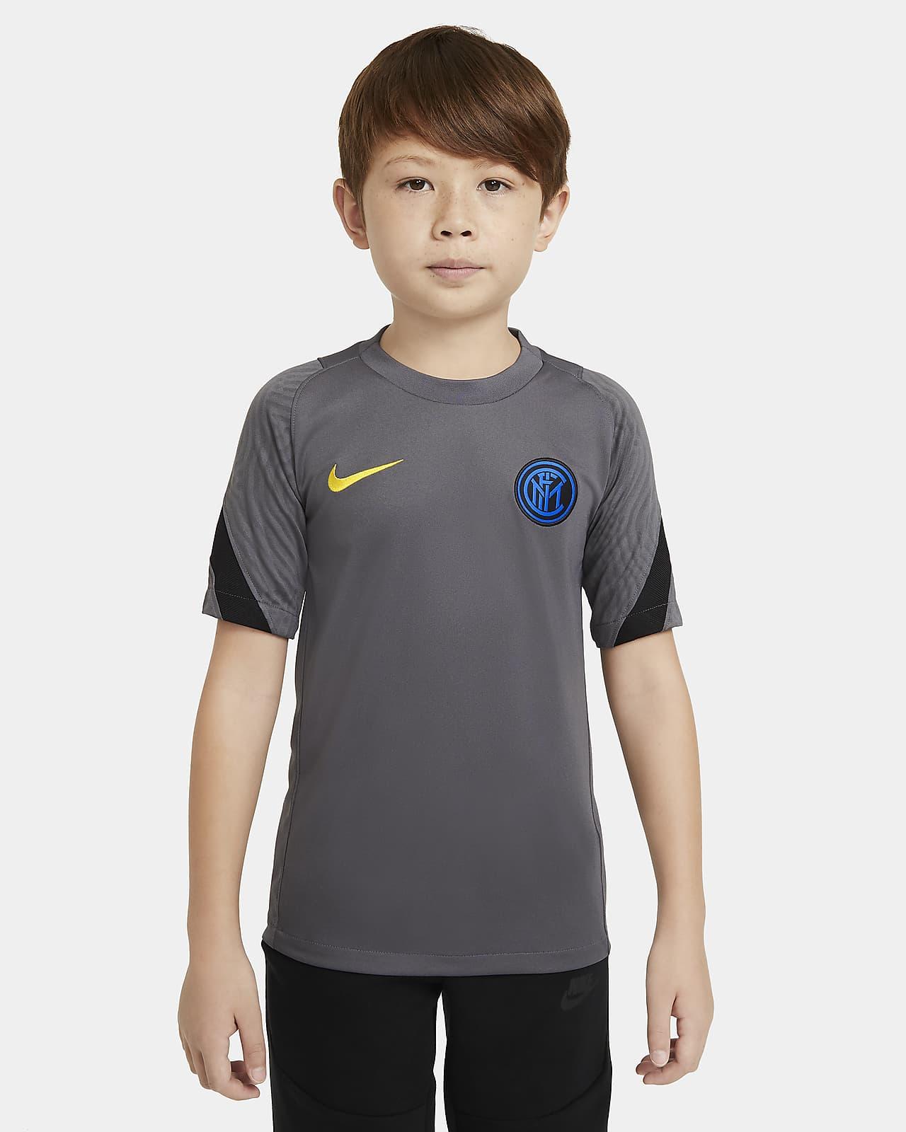 Camiseta de fútbol de manga corta para niños talla grande Inter Milan Strike