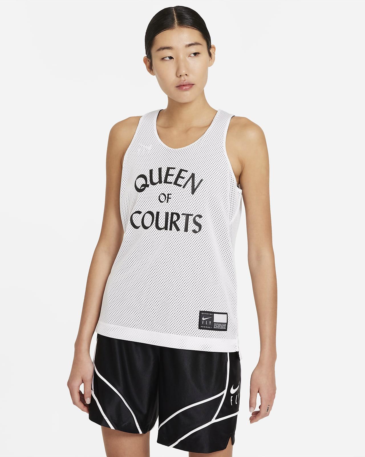 เสื้อแข่งบาสเก็ตบอลผู้หญิงใส่ได้ 2 ด้าน Nike Swoosh Fly