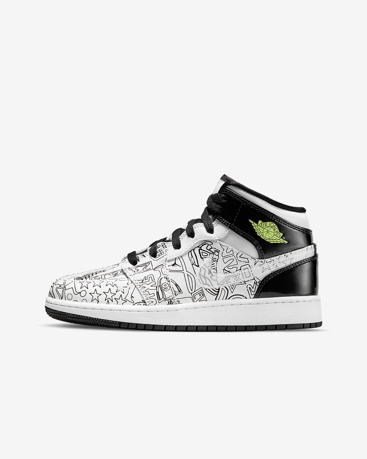 Air Jordan 1 Mid DIY Big Kids' Shoes