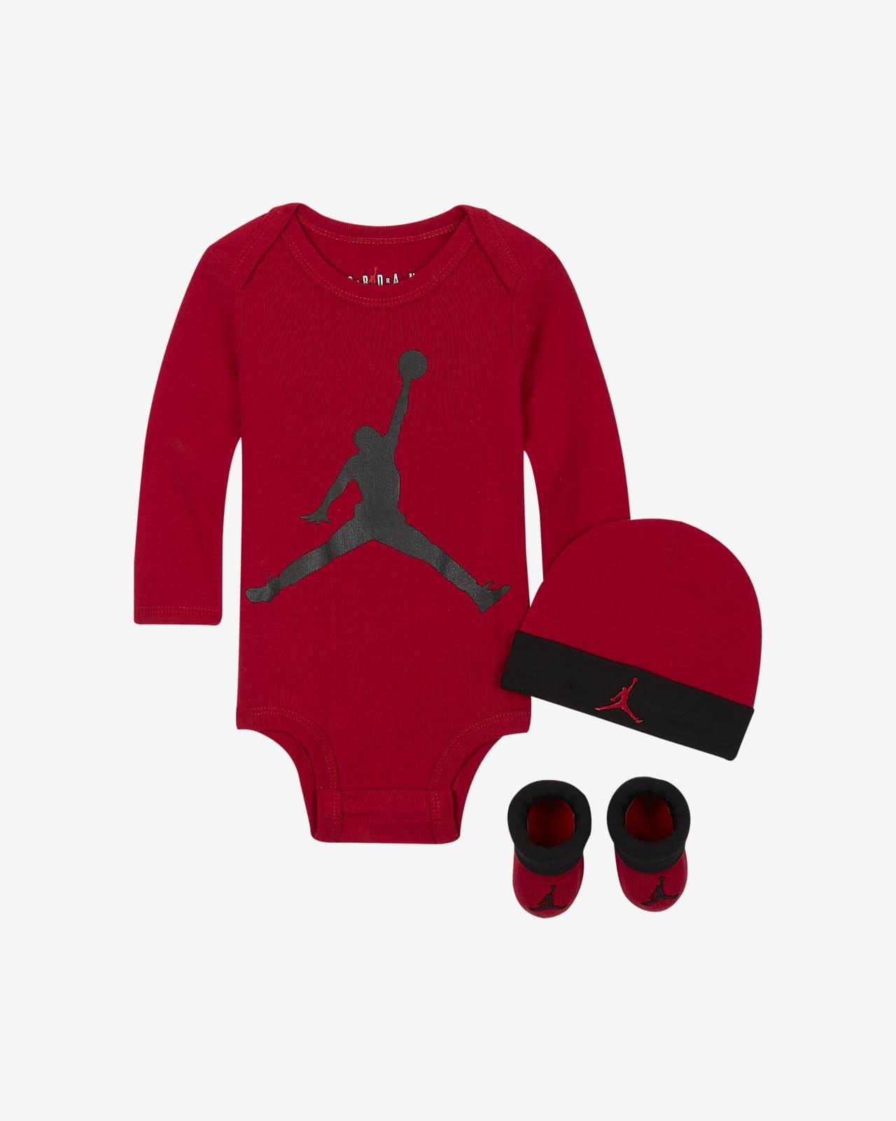 Ensemble body, bonnet et chaussons Jordan pour Bébé