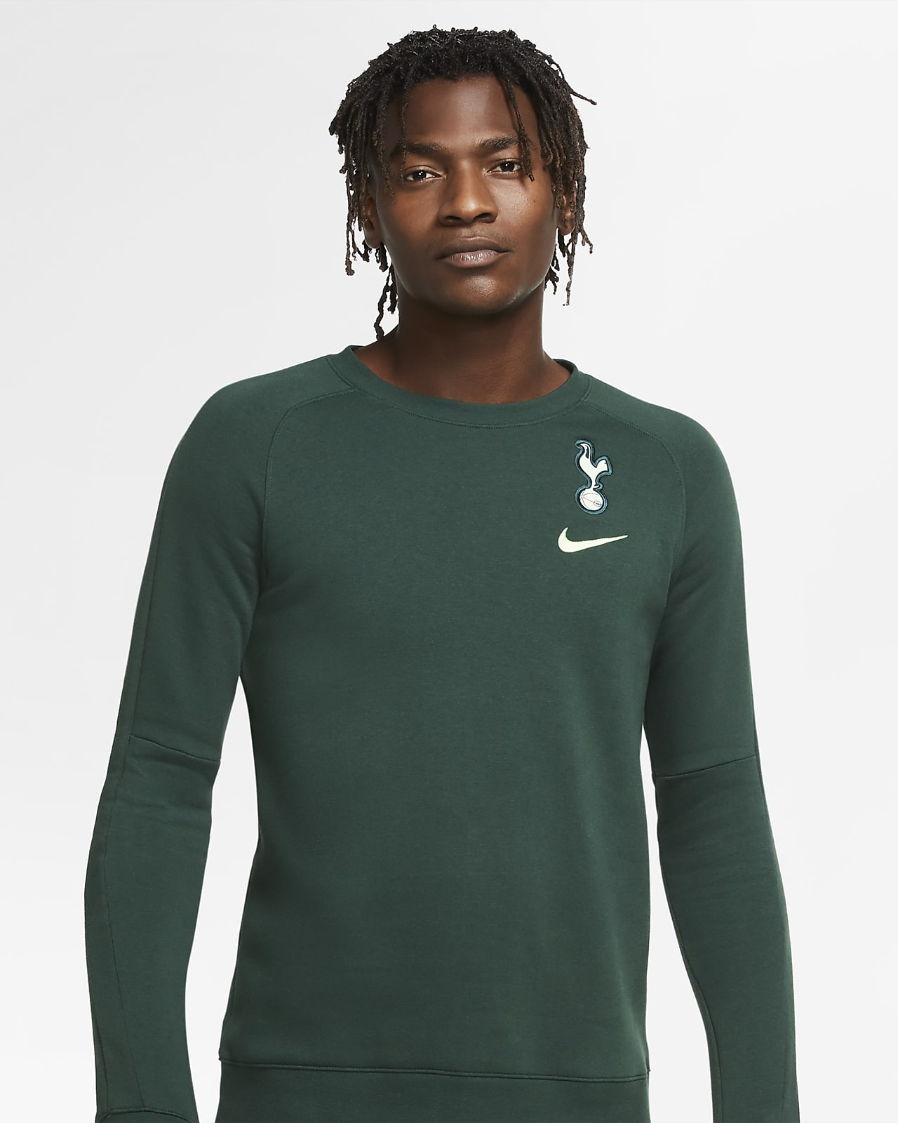Tottenham Hotspur Men's Fleece Long-Sleeve Football Crew
