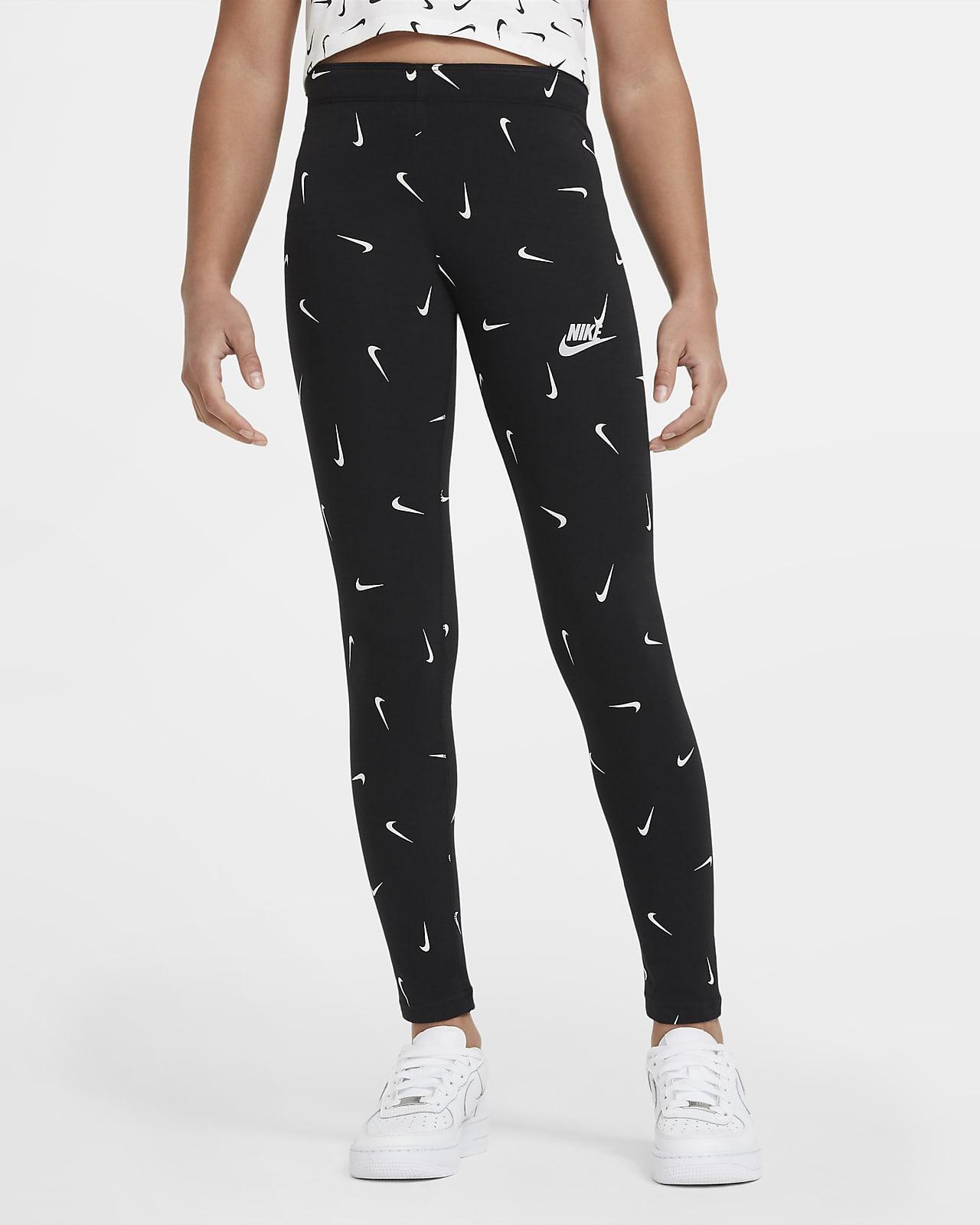 Legginsy z nadrukiem dla dużych dzieci (dziewcząt) Nike Sportswear Favorites