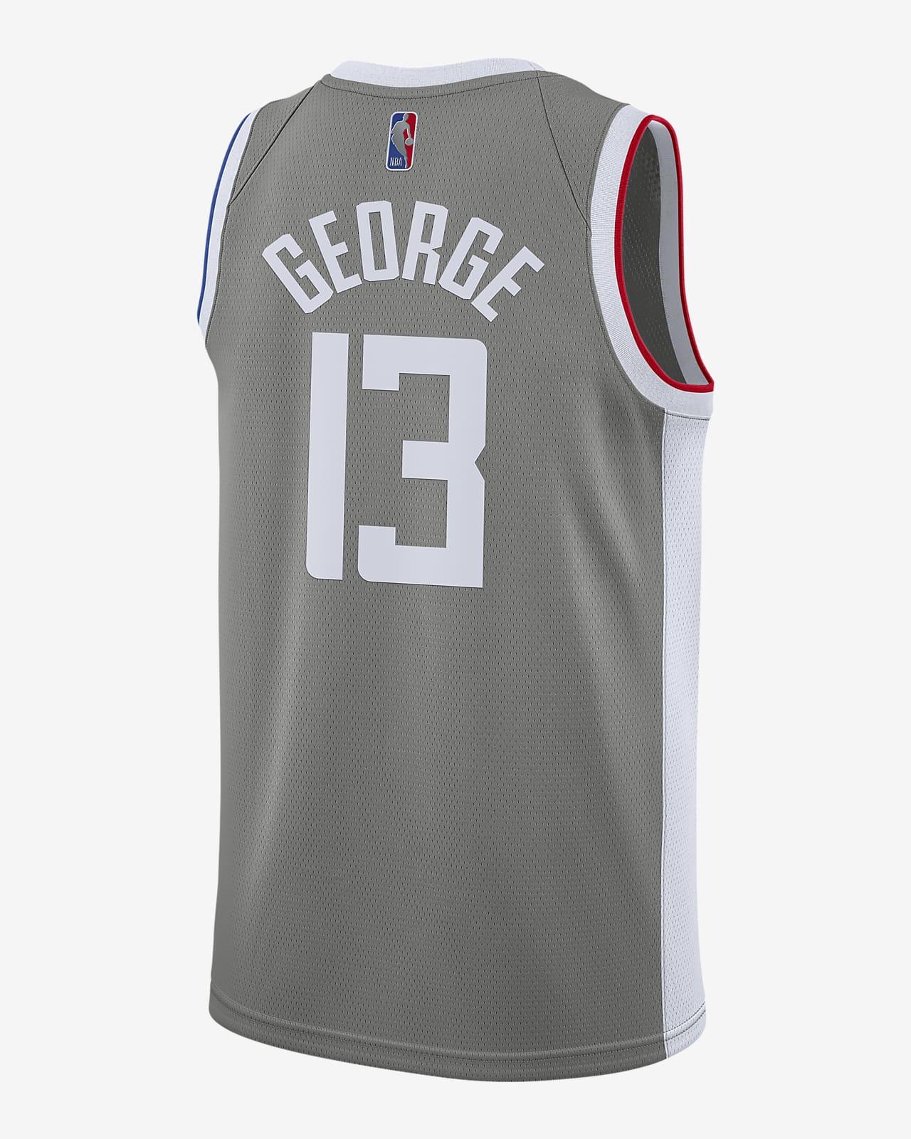 Paul George Clippers Earned Edition Men's Nike NBA Swingman Jersey