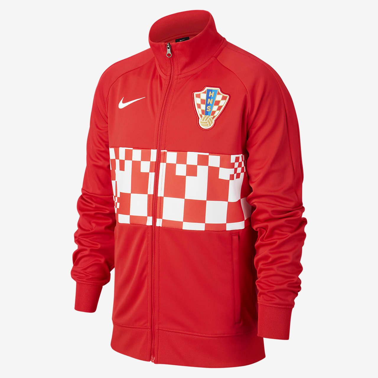 Horvátország futball-melegítőfelső nagyobb gyerekeknek