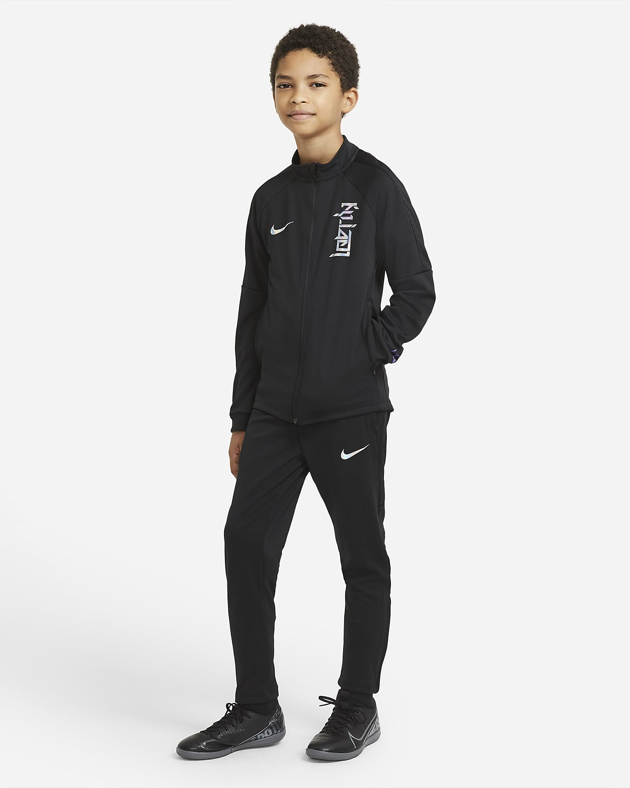 Nike Dri-FIT Kylian Mbappé Older Kids' Knit Football Tracksuit