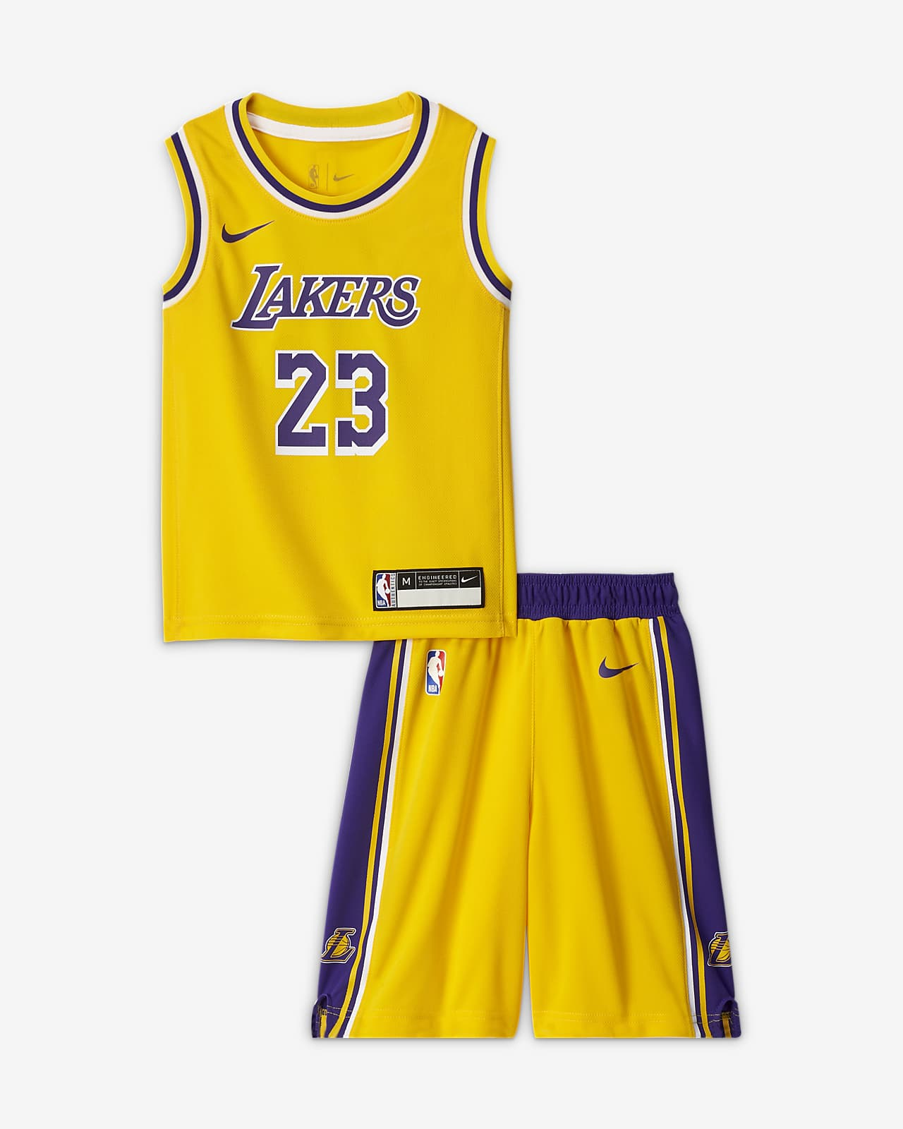 Los Angeles Lakers Replica Younger Kids Boys Nike Nba Jersey And Shorts Box Set Nike Gb