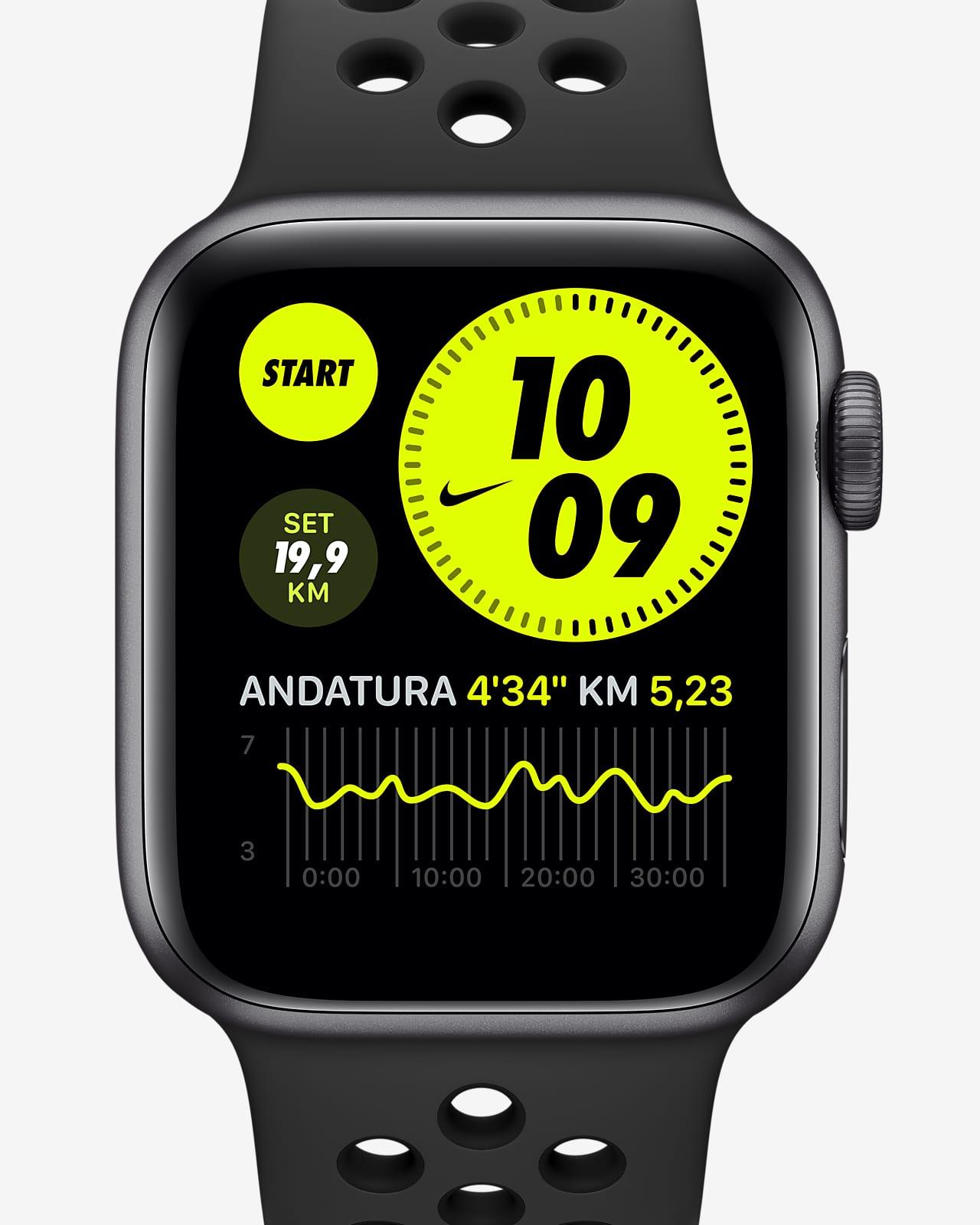Apple Watch Nike Series 6 (GPS + Cellular) con Nike Sport Band e cassa in alluminio grigio siderale - 40 mm