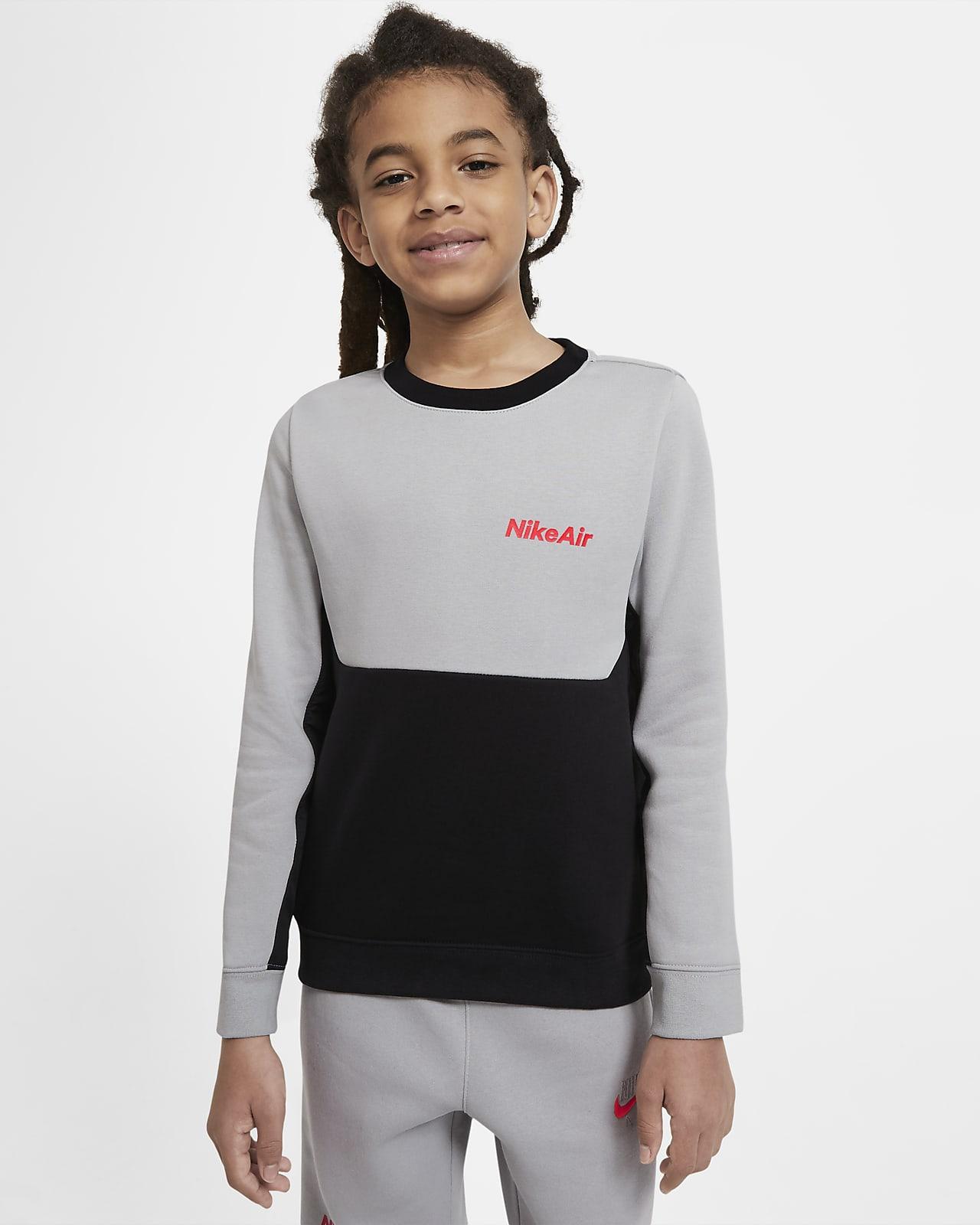 Langærmet Nike Air-crewtrøje til store børn (drenge)