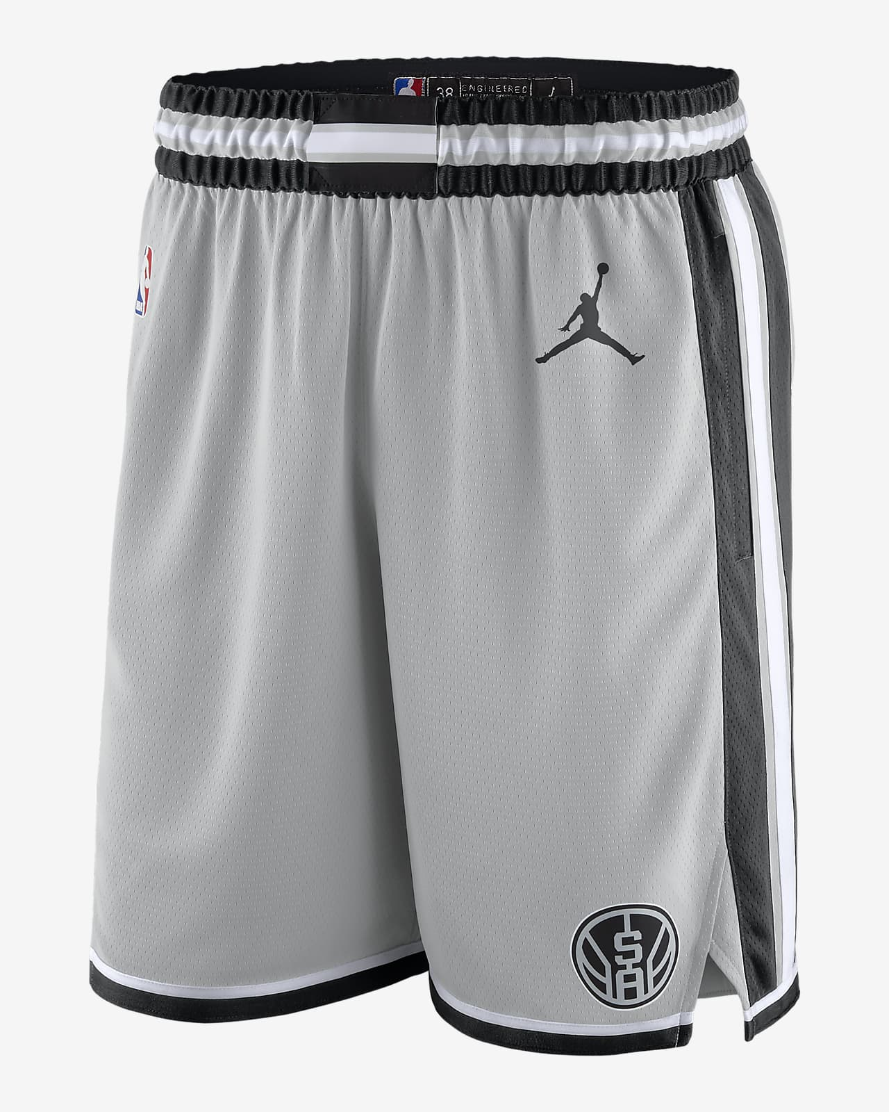 Spurs Statement Edition 2020 Men's Jordan NBA Swingman Shorts