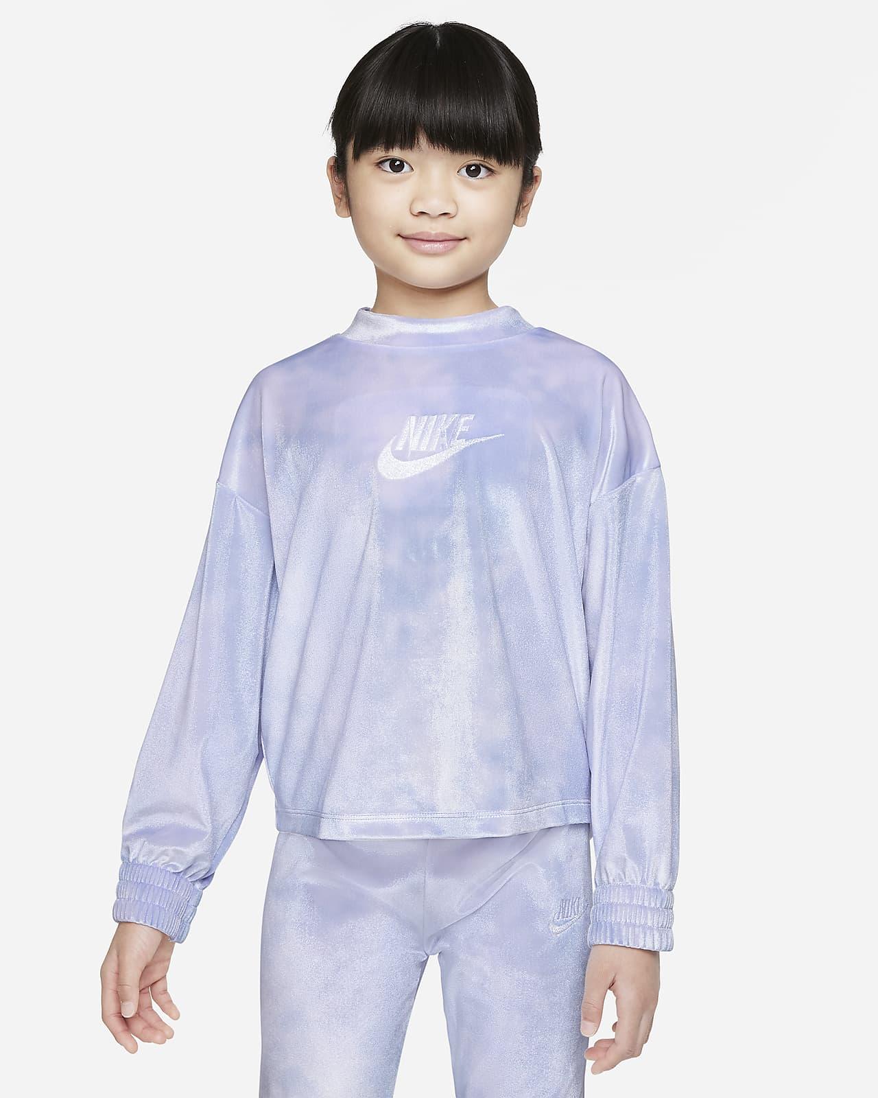 Sudadera con velour para niños talla pequeña Nike