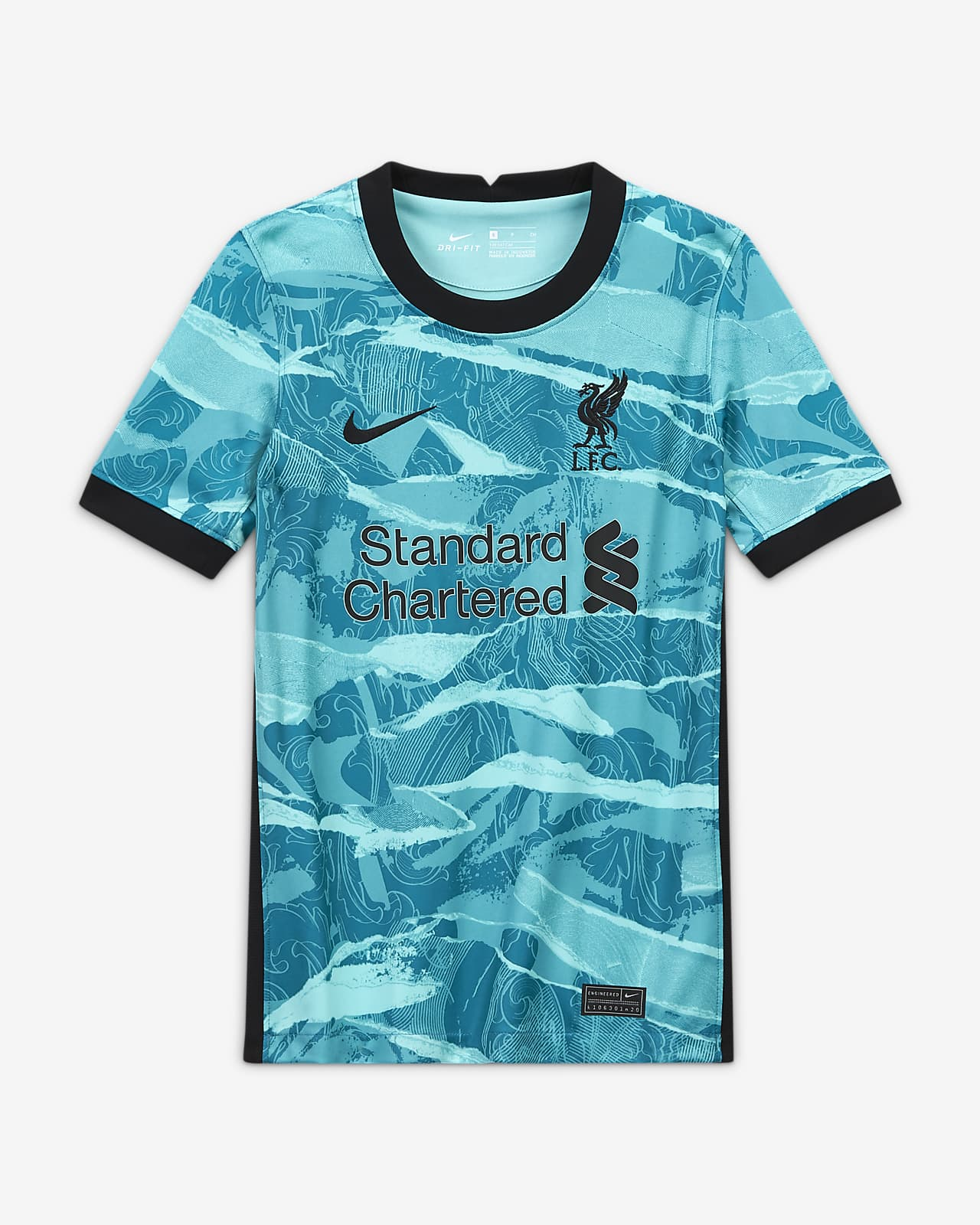 Liverpool Fc 2020 21 Stadium Away Older Kids Football Shirt Nike Gb
