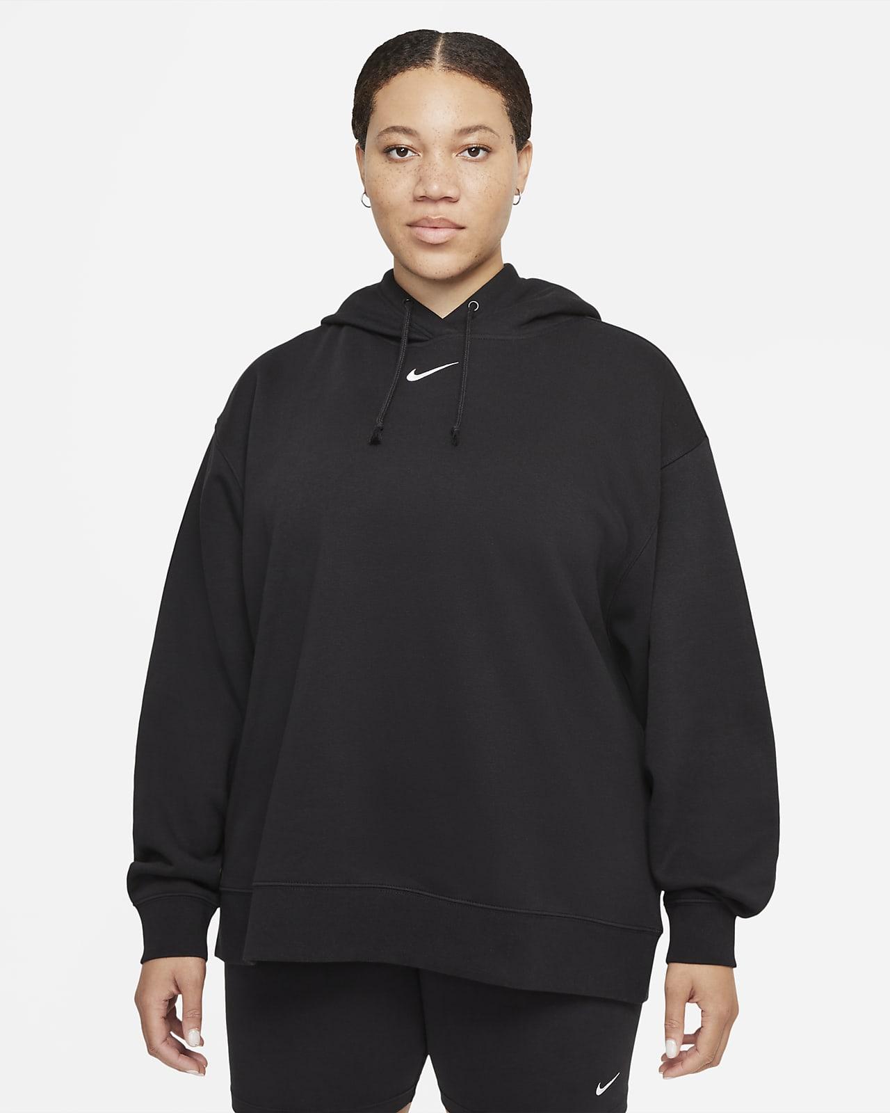 Sudadera con gorro de tejido Fleece oversized para mujer Nike Sportswear Collection Essentials (talla grande)